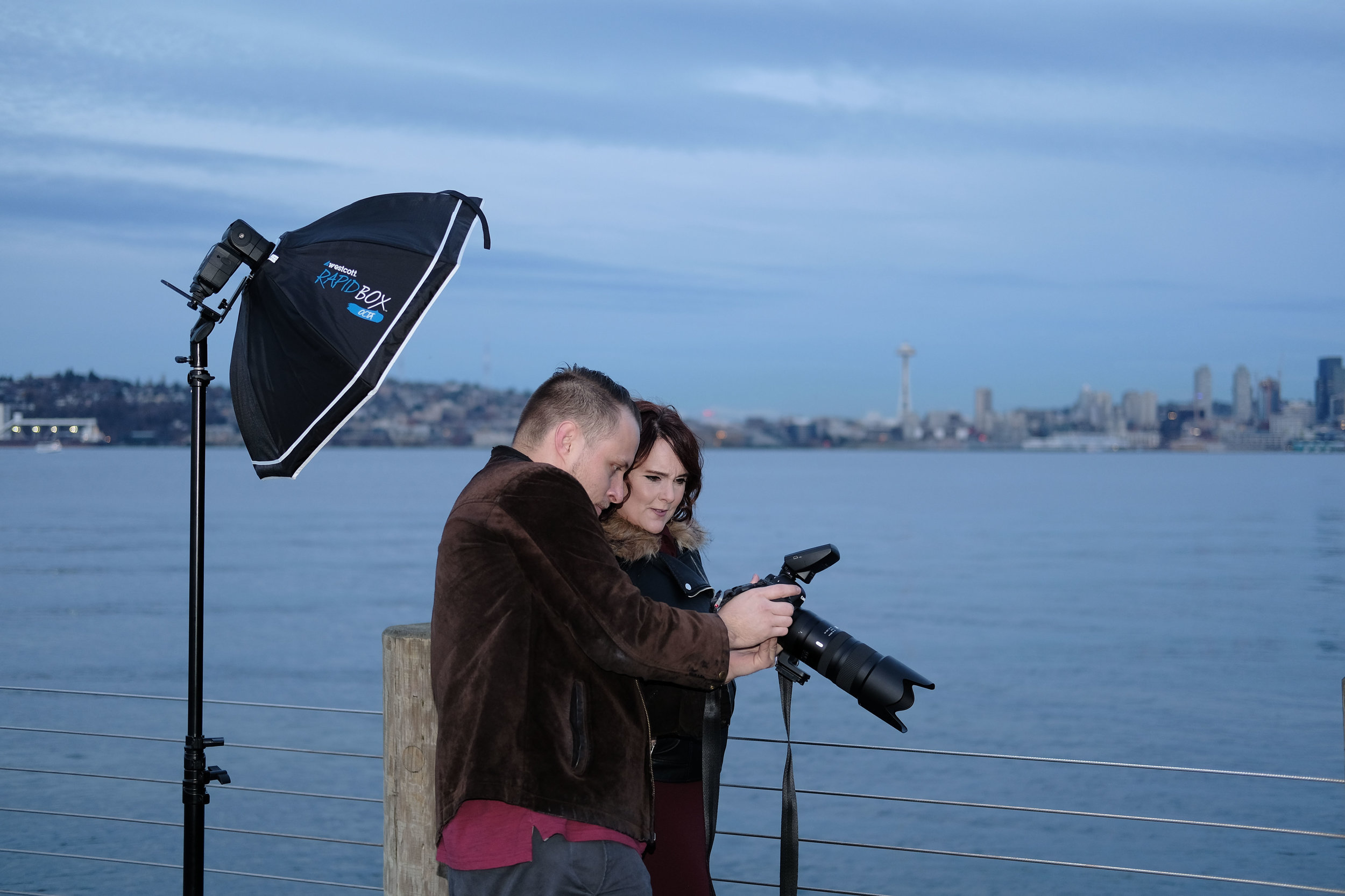 There's a theme running through these Behind the Scenes shots - we work closely with people throughout our shoots.