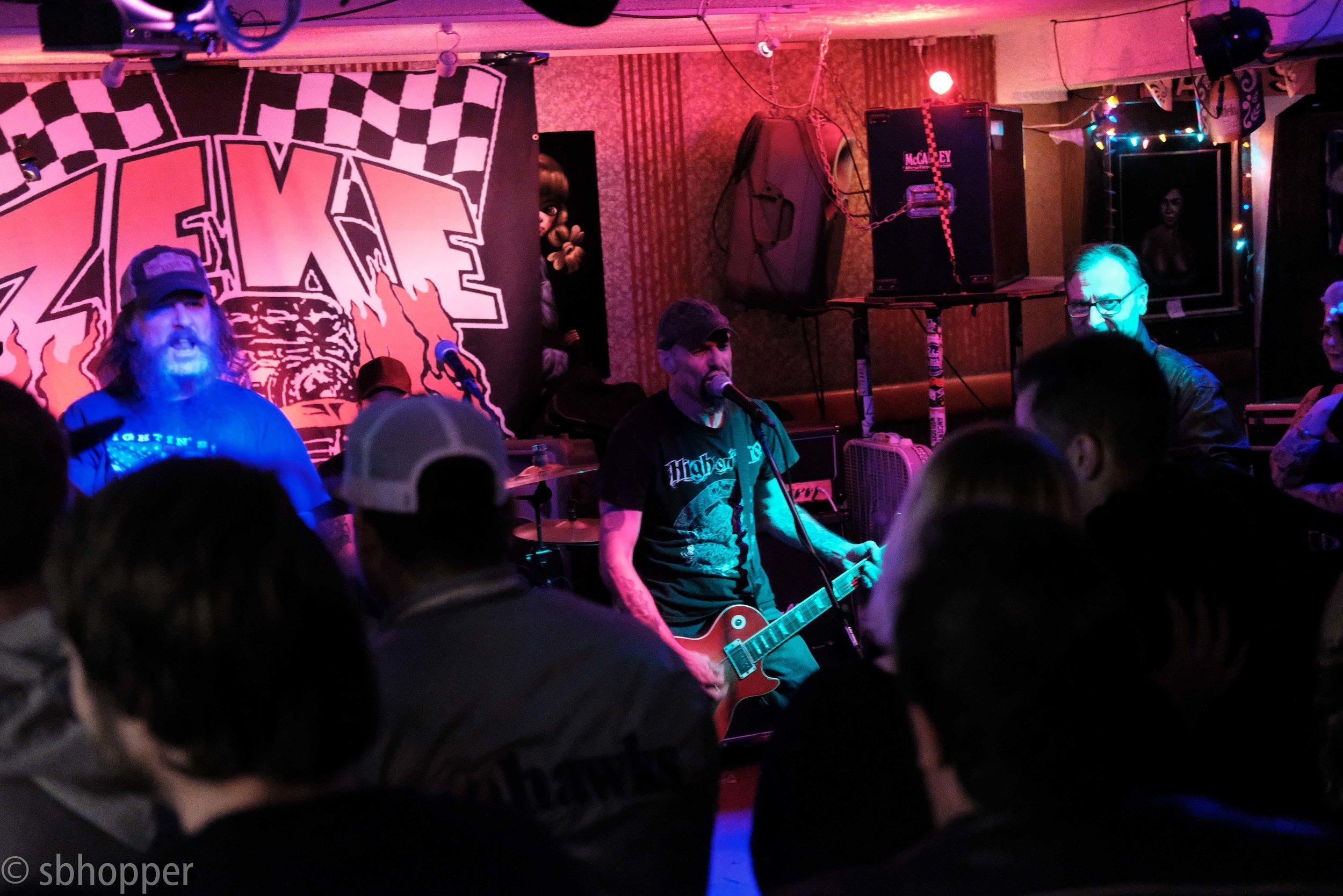 Zeke at Darrell's Tavern, Shoreline, 10 February 2018.
