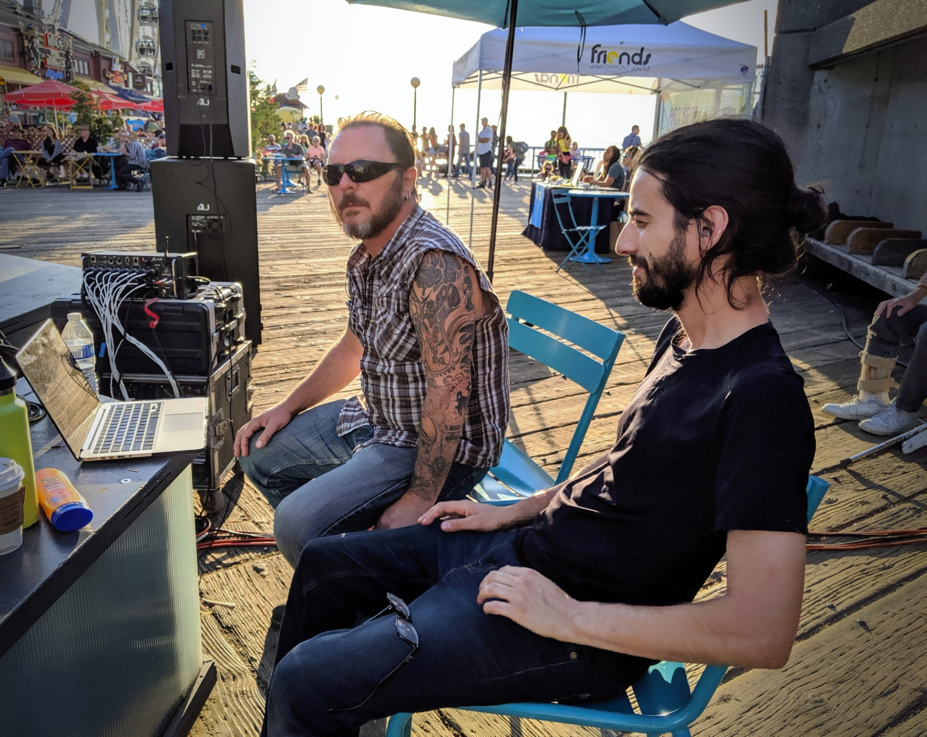 Gigs 4U (Toby Brady and Andrew Seliber) running sound.