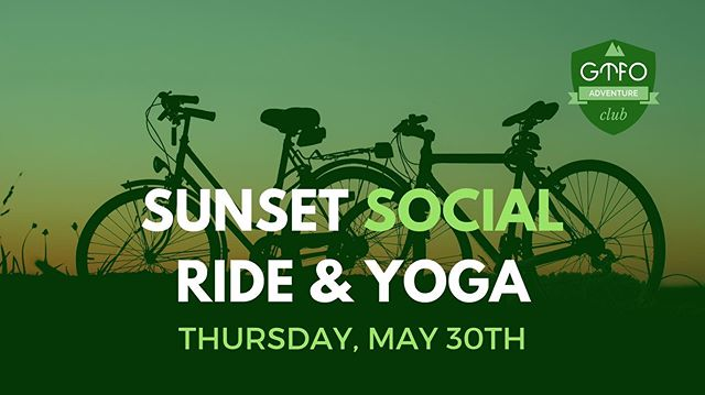 Find us at Queen Square on Thursday at 7pm for our Spring Social before our bike and yoga sesh (it was supposed to be today, Sunday May 26 but there's so much 🌧) So join us for snacks, prizes and more fun, on Thursday!  Oh. Ps, it's FREEEEEEEE. 💸