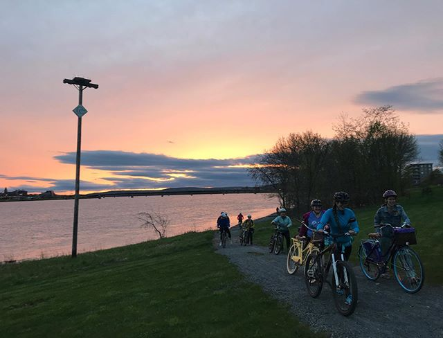 Just 40 of our closest friends out for a sunset ride. @fredtourism #frederictonbikeweek #gtfonb #wellnessweek