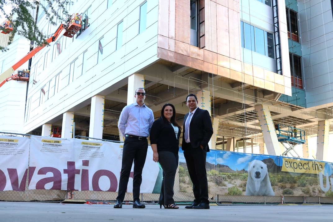 Pictured Left to Right:  Benjamin Garland, ARMSA Director of Risk Management & Insurance  |  Carly Baez, ARMSA Director of Safety & Member Services  |  Jessie Atencio, ADOSH Assistant Director