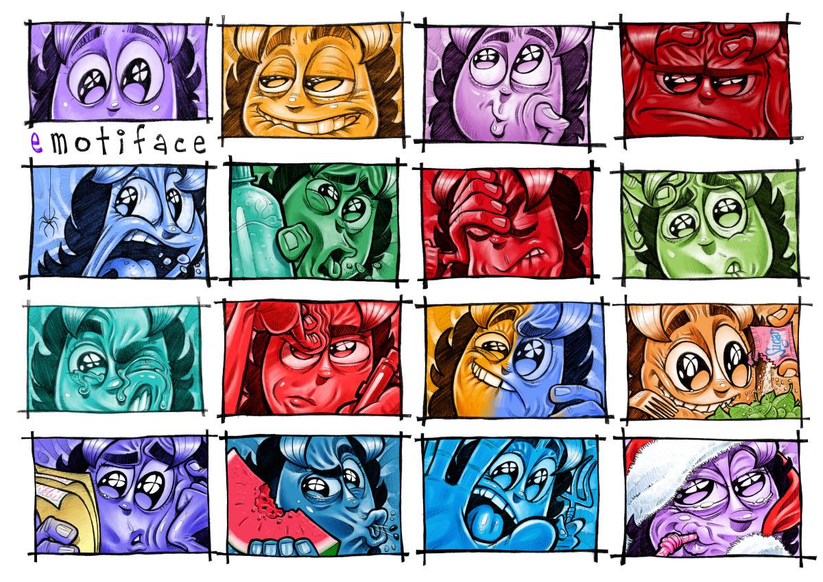 """""""EMOTIFACE"""" - VARIOUS emotees"""