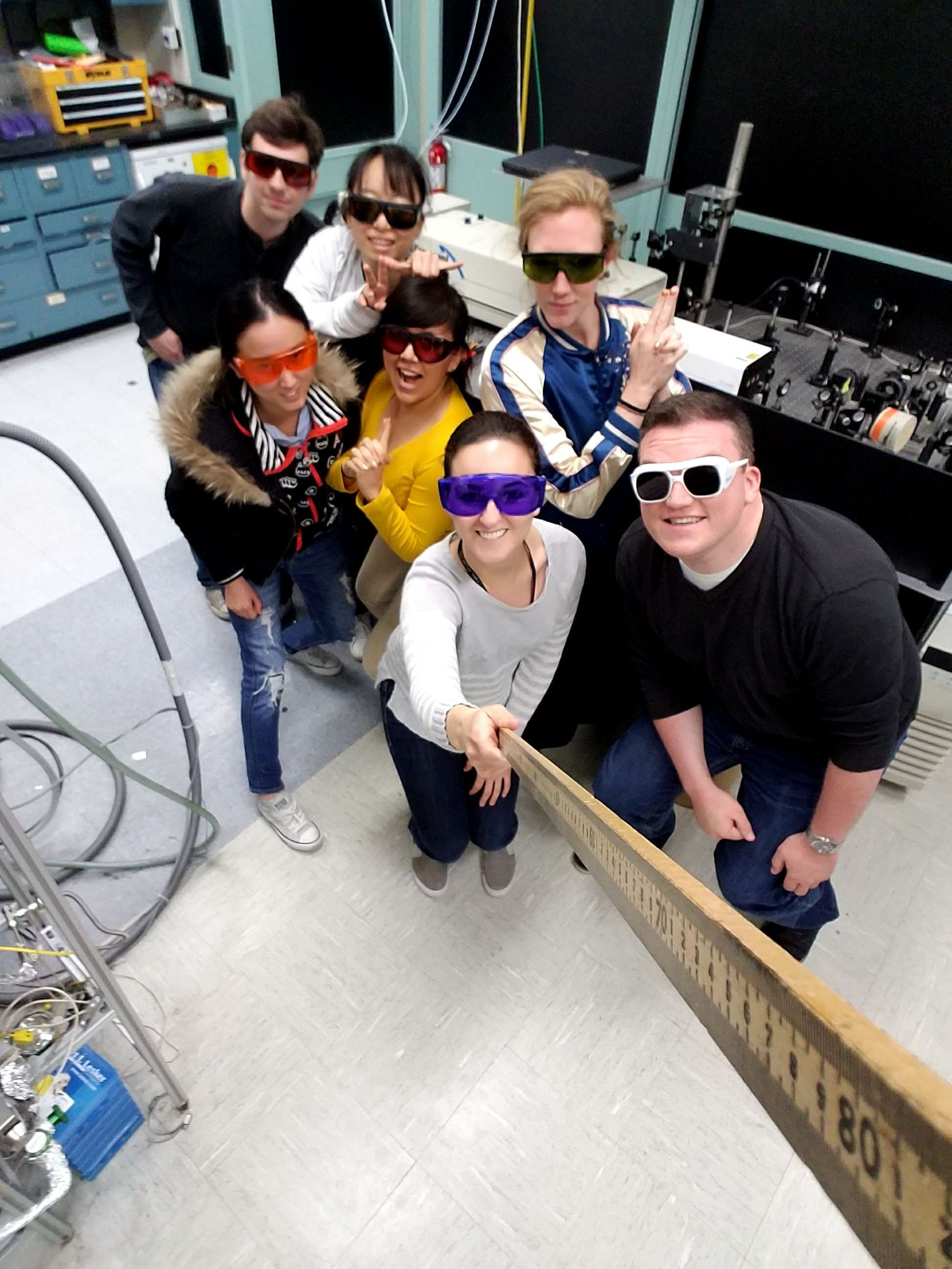 06/2017 - Group's photo wins the Safety Selfie Contest at Chemistry Safety Day 2017 at Stony Brook University.