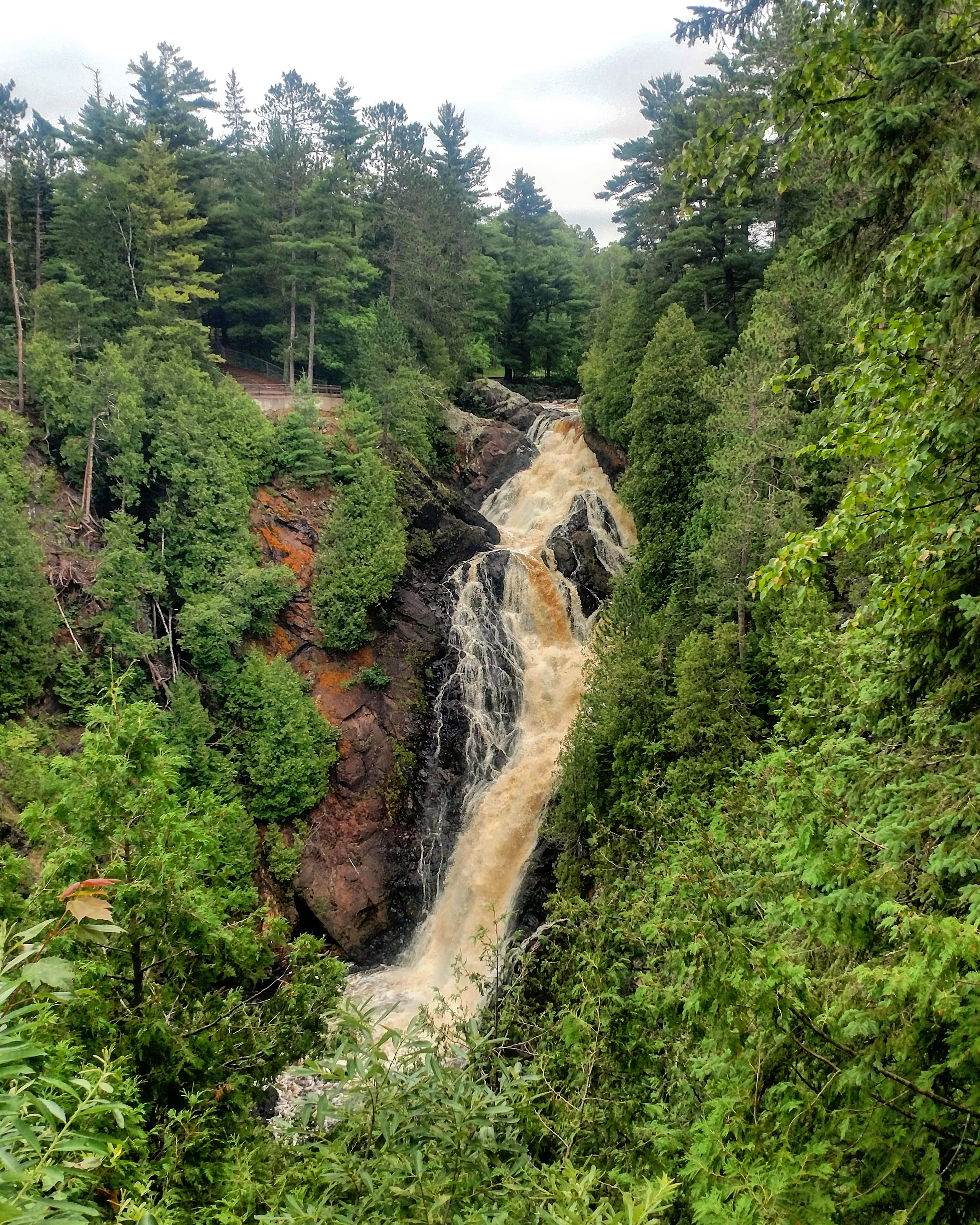 Big Manitou Falls, highest waterfall in Wisconsin