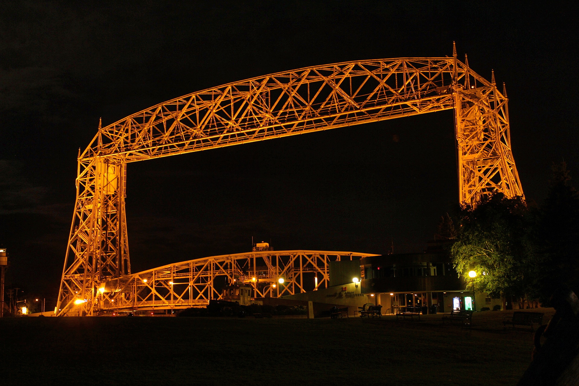 stopped by the lift bridge while waiting for the skies to clear
