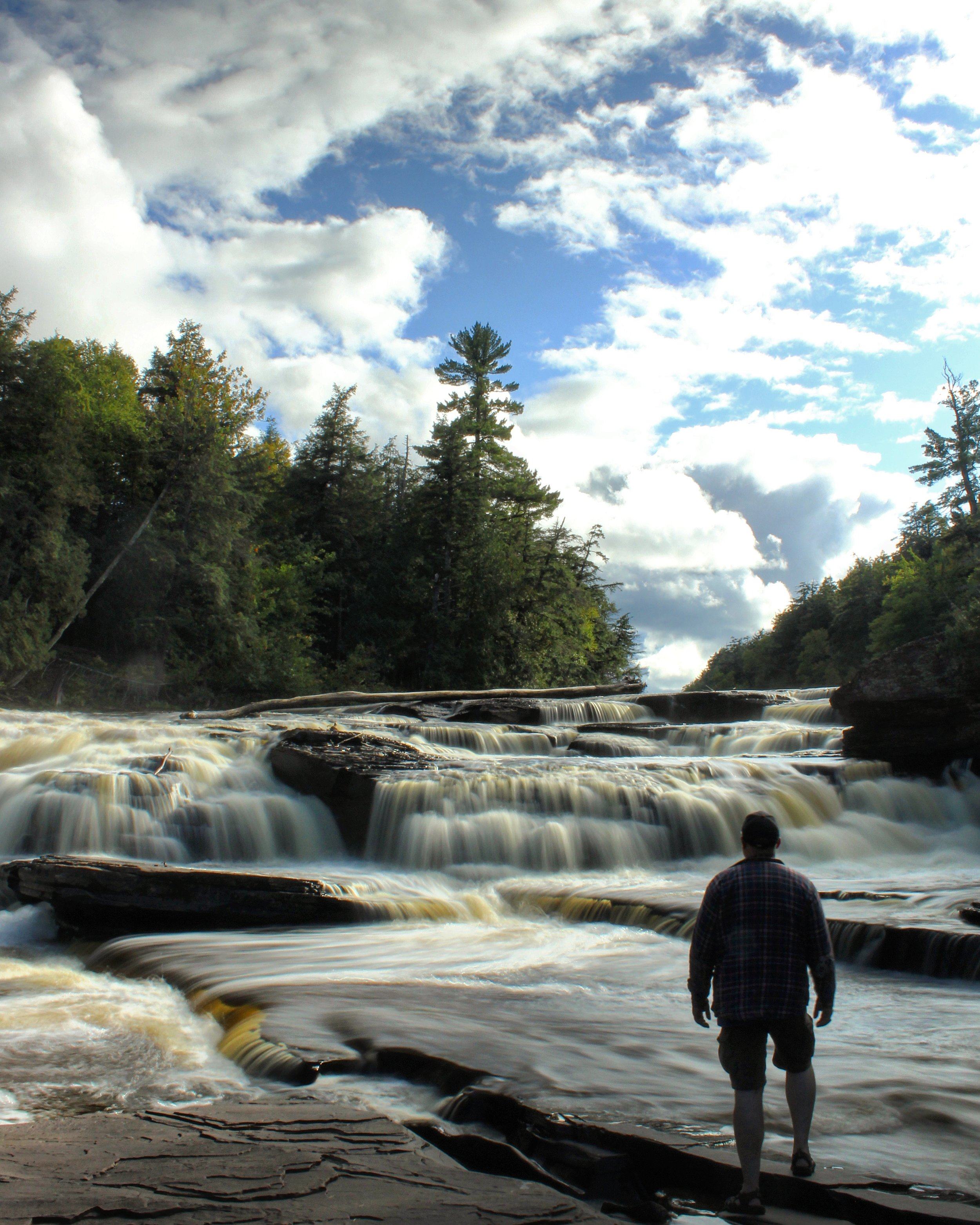 The Presque Isle River in the Porcupine Mountains State Park, in the U.P. of Michigan.