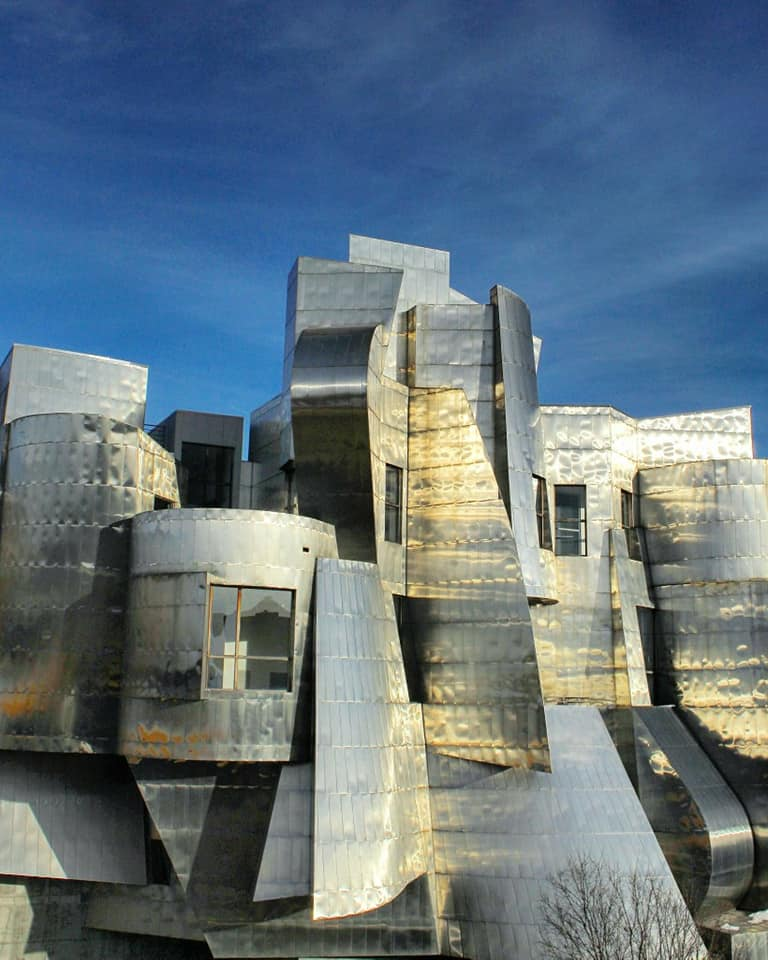 the Weisman Museum on a sunny day