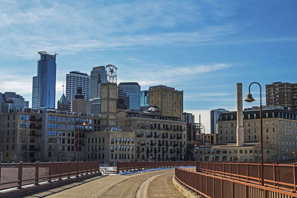 Mill District from the Stone Arch Bridge