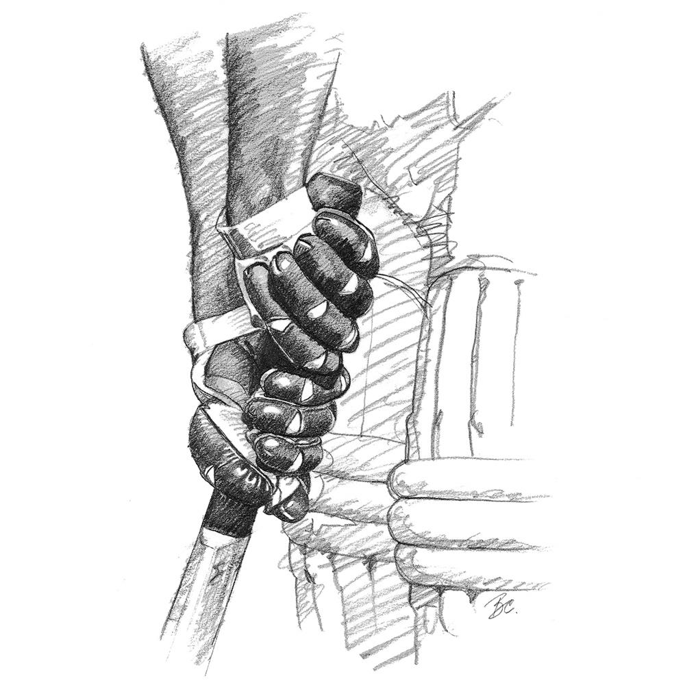 The Bradman Grip