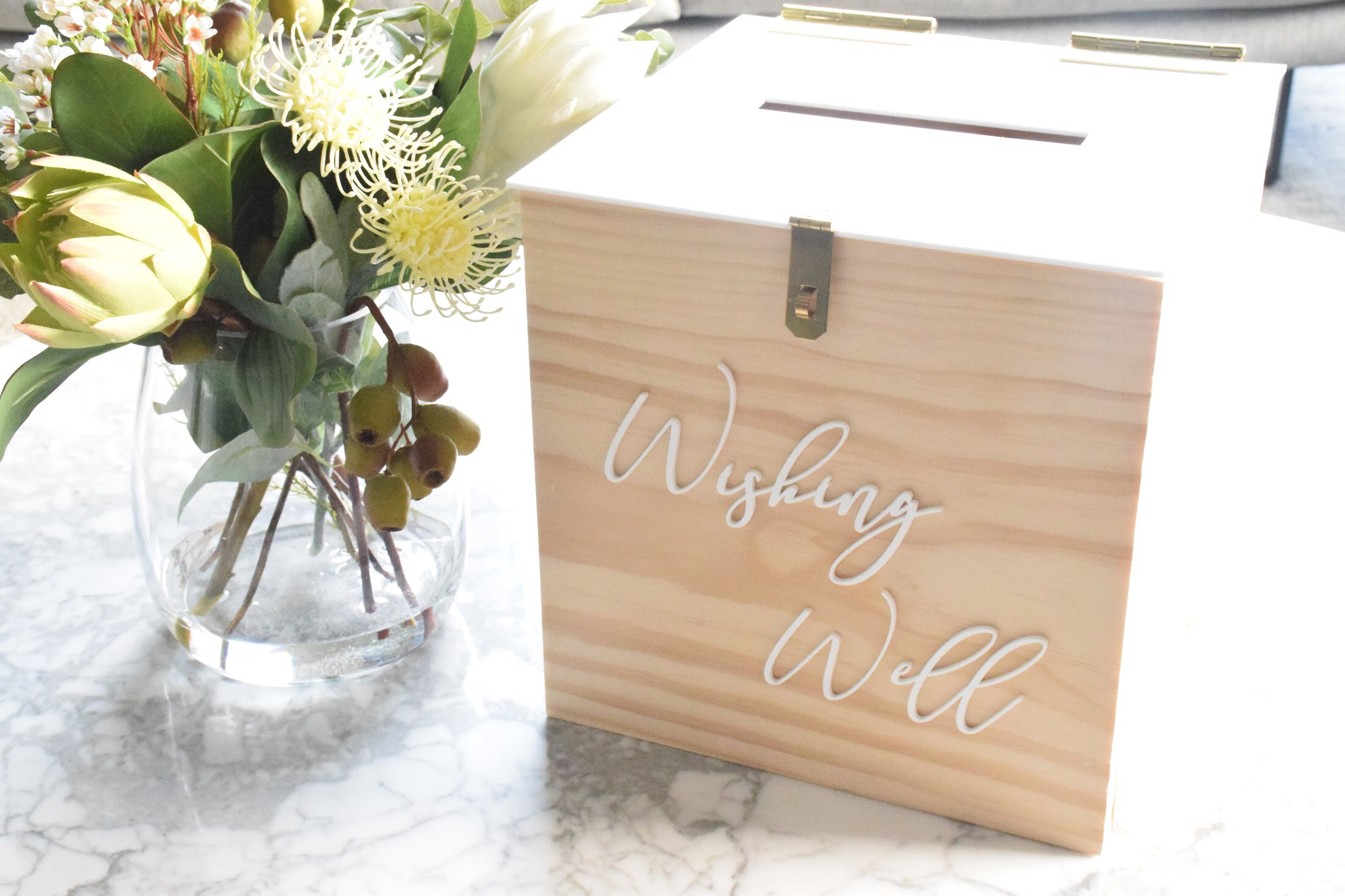 WISHING WELL BOX WITH LOCK. PLEASE CONTACT ME VIA FACEBOOK BUSINESS PAGE OR EMAIL FOR BOOKINGS. (LOCAL WANGARATTA AREA ONLY)