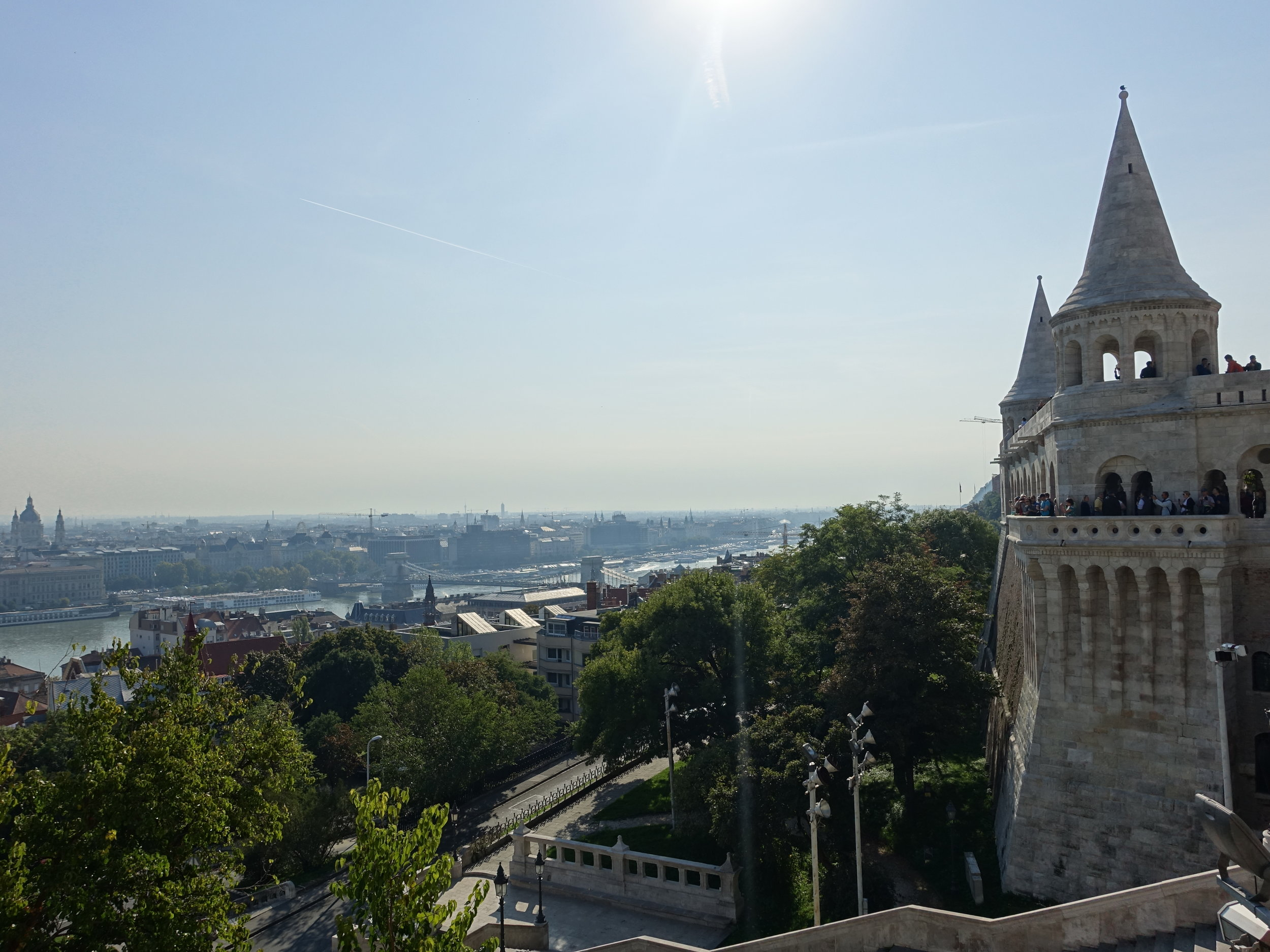 View of Pest side of Budapest from Fisherman's Bastion