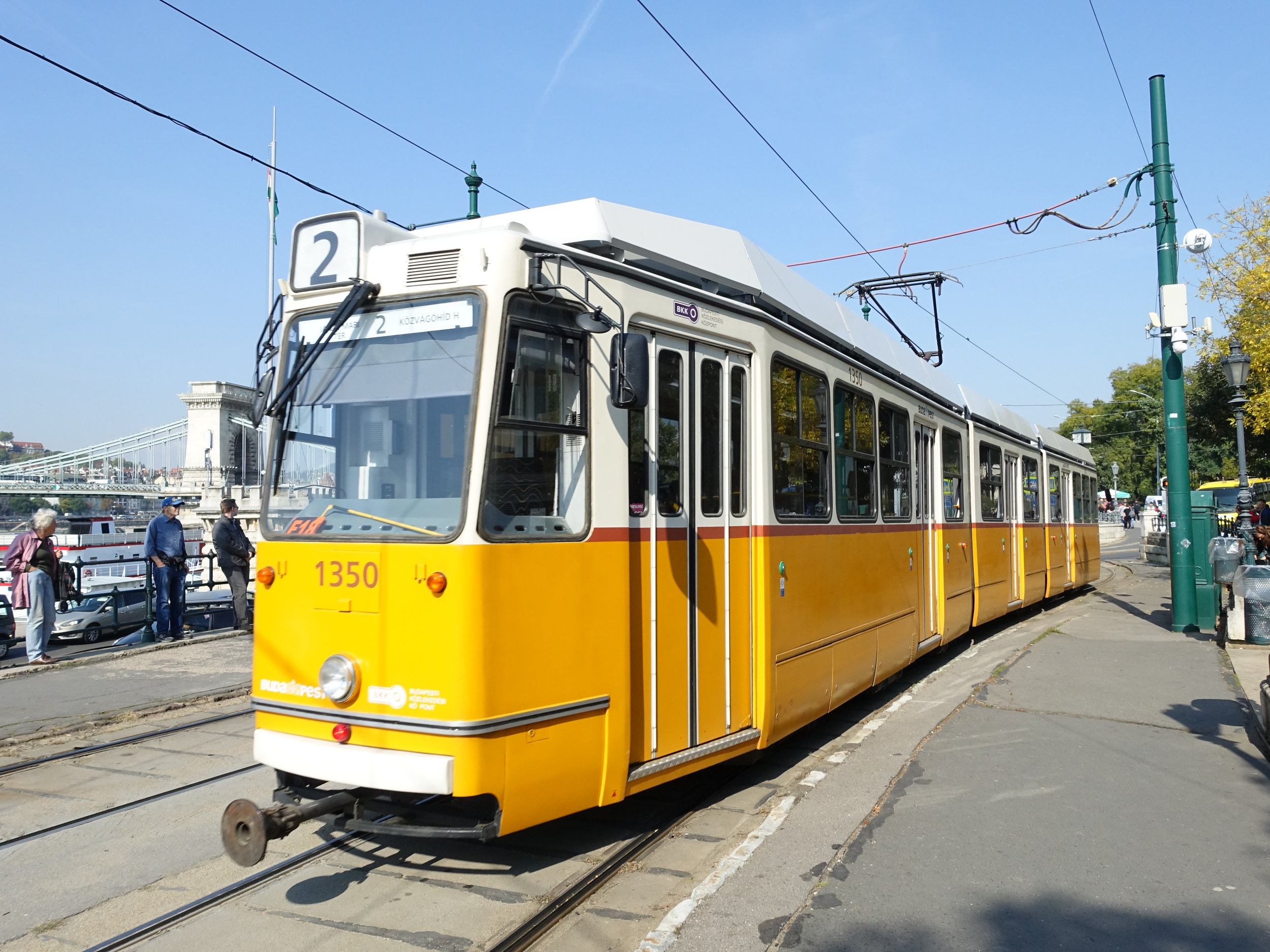 Tram No.2 - the best way to view the sights along the Danube river