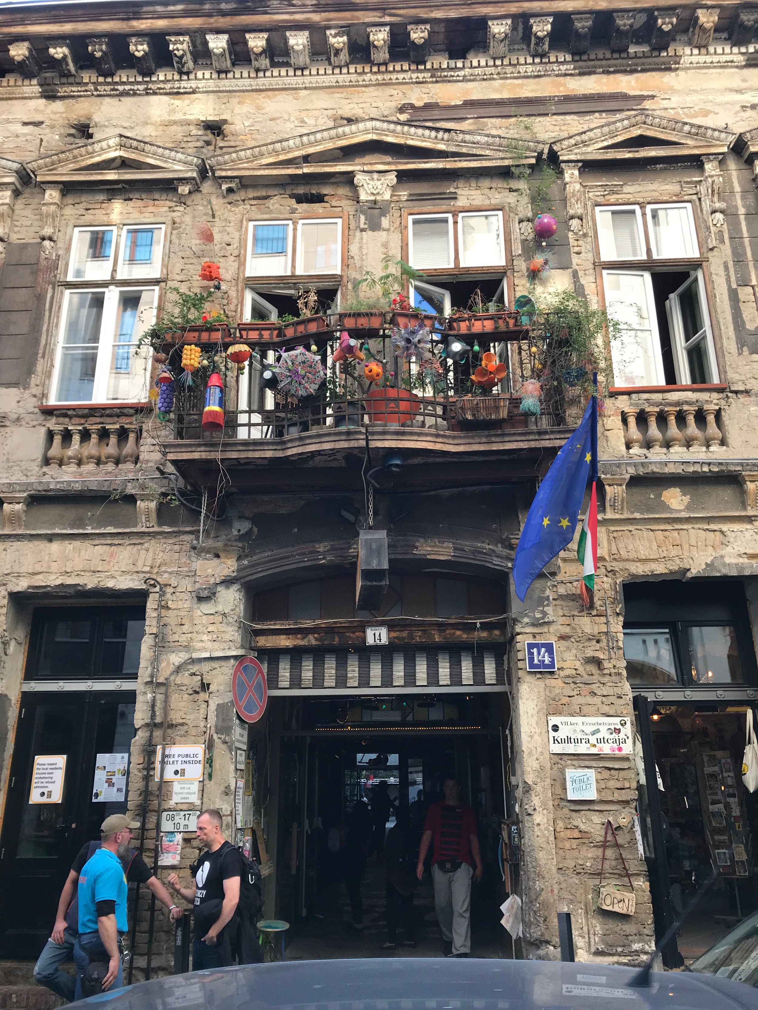 Szimpla Kert - a famous ruin bar within the Jewish Quarter