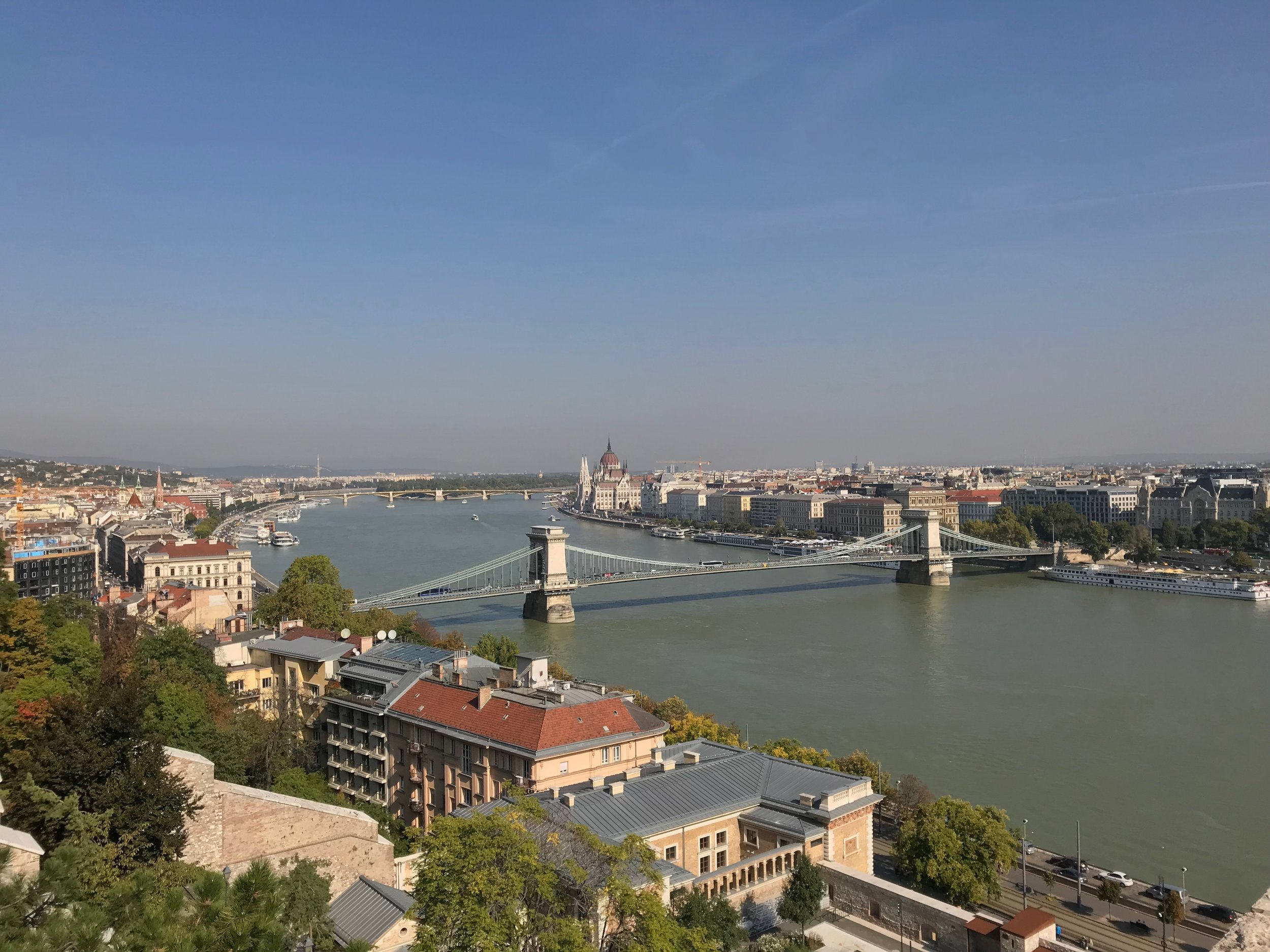 View of Danube river from Buda Castle