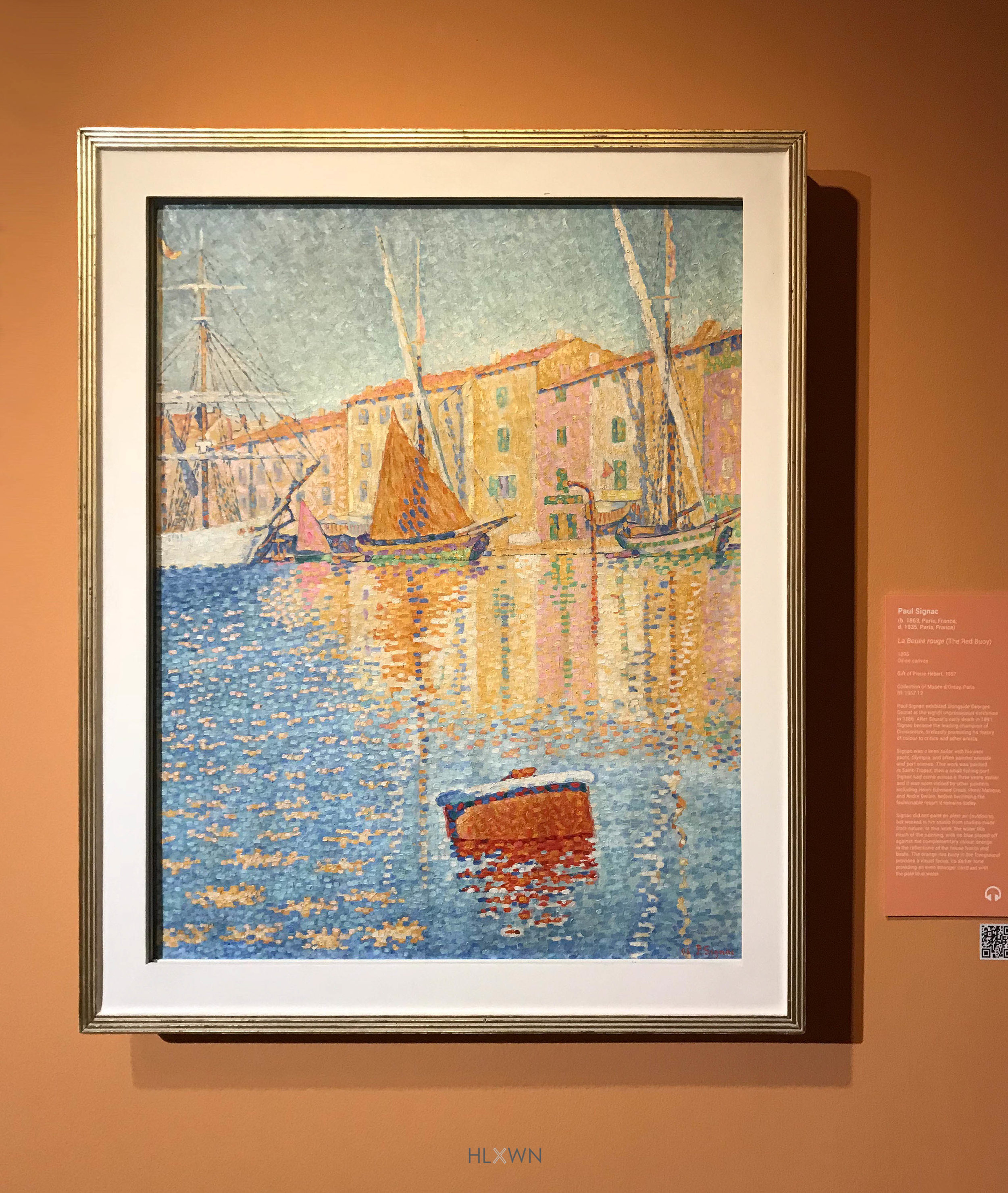 The Red Buoy by Paul Signac (Pointilism)