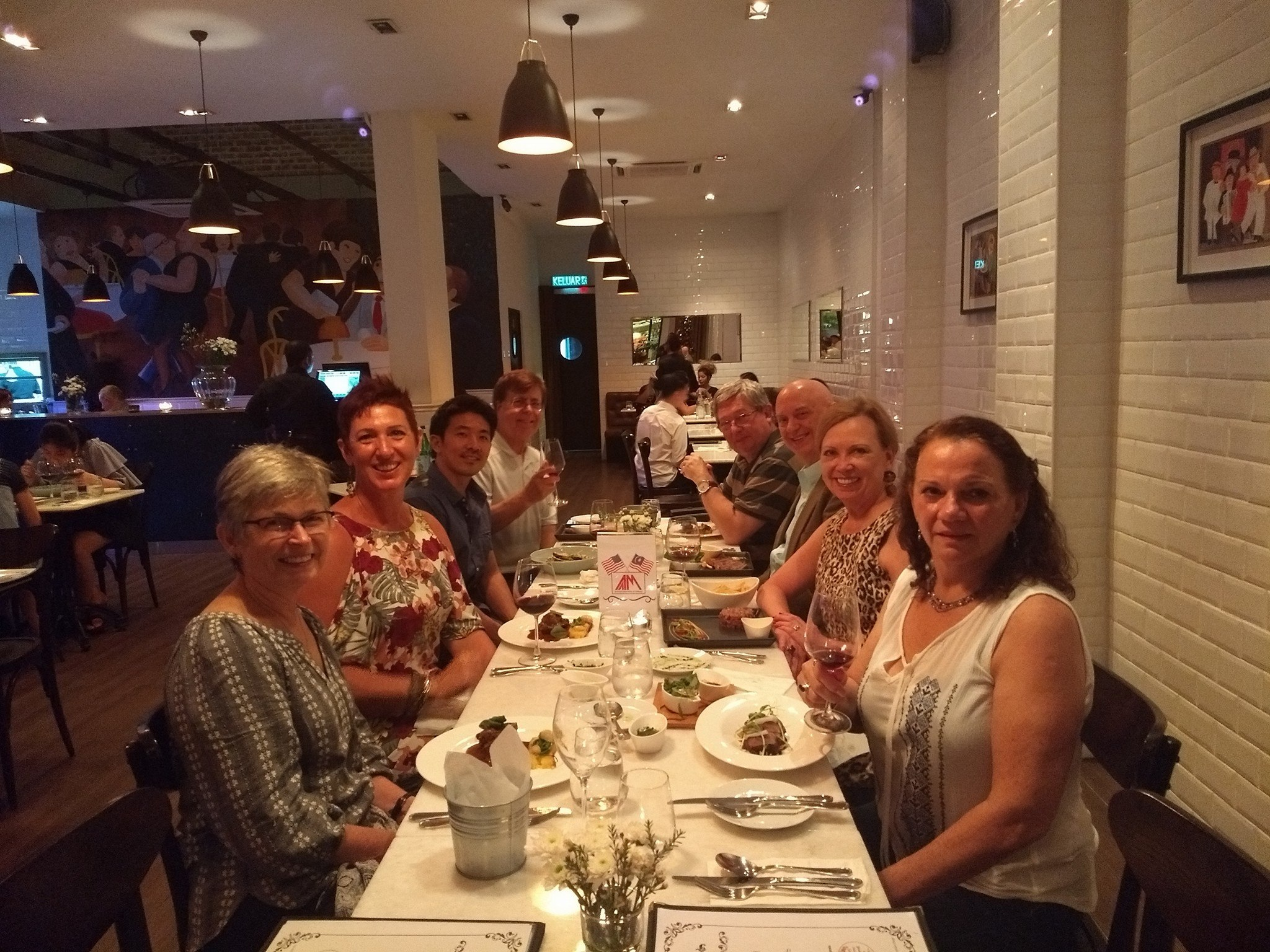 Our monthly Wine and Dine is a great way to meet other AAM members and try out a new restaurant in KL. Check out the  monthly calendar  to see where we're going next!
