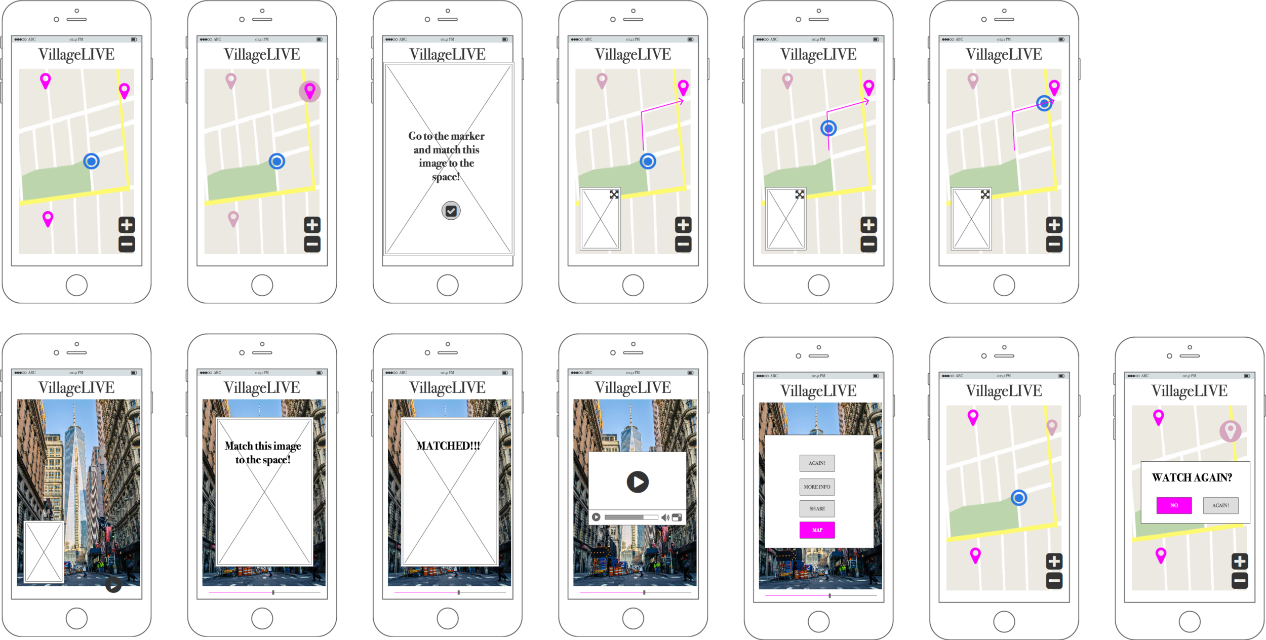 Refined UX wireframes