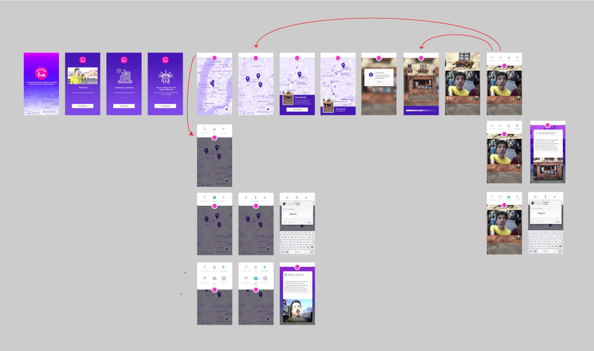Final UX/UI designs and  flow.
