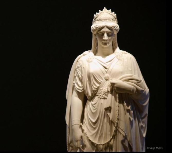 Harriet Hosmer,  Zenobia in Chains,  detail, carved marble, 1859