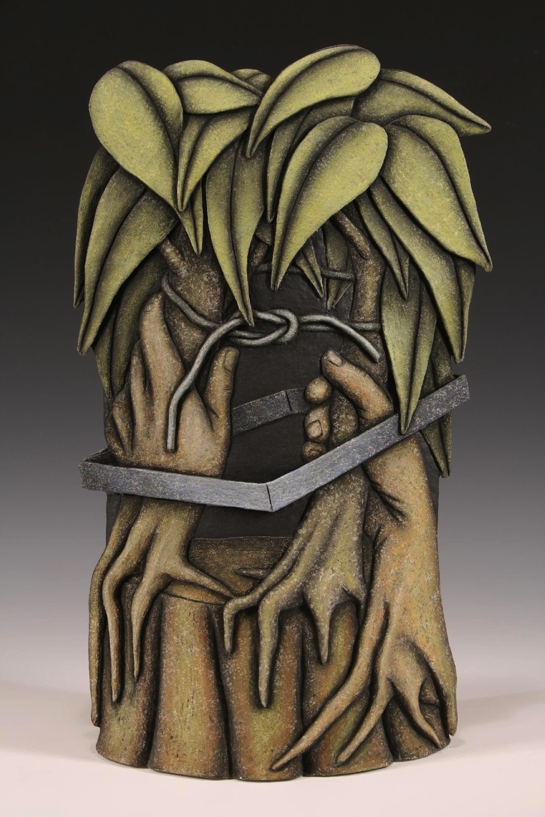 "Louis Marak, ""Square Root of Tree,"" stoneware, 2007. Photo coutesy of the artist."