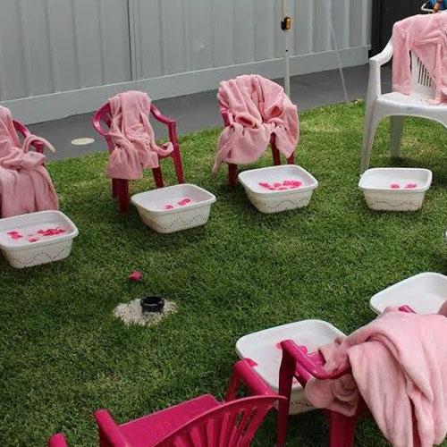 Pamper Party Setup for Kids