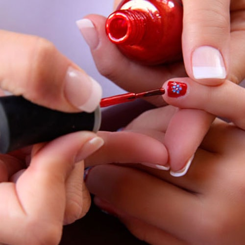 Nail Painting Treat in Pamper Party
