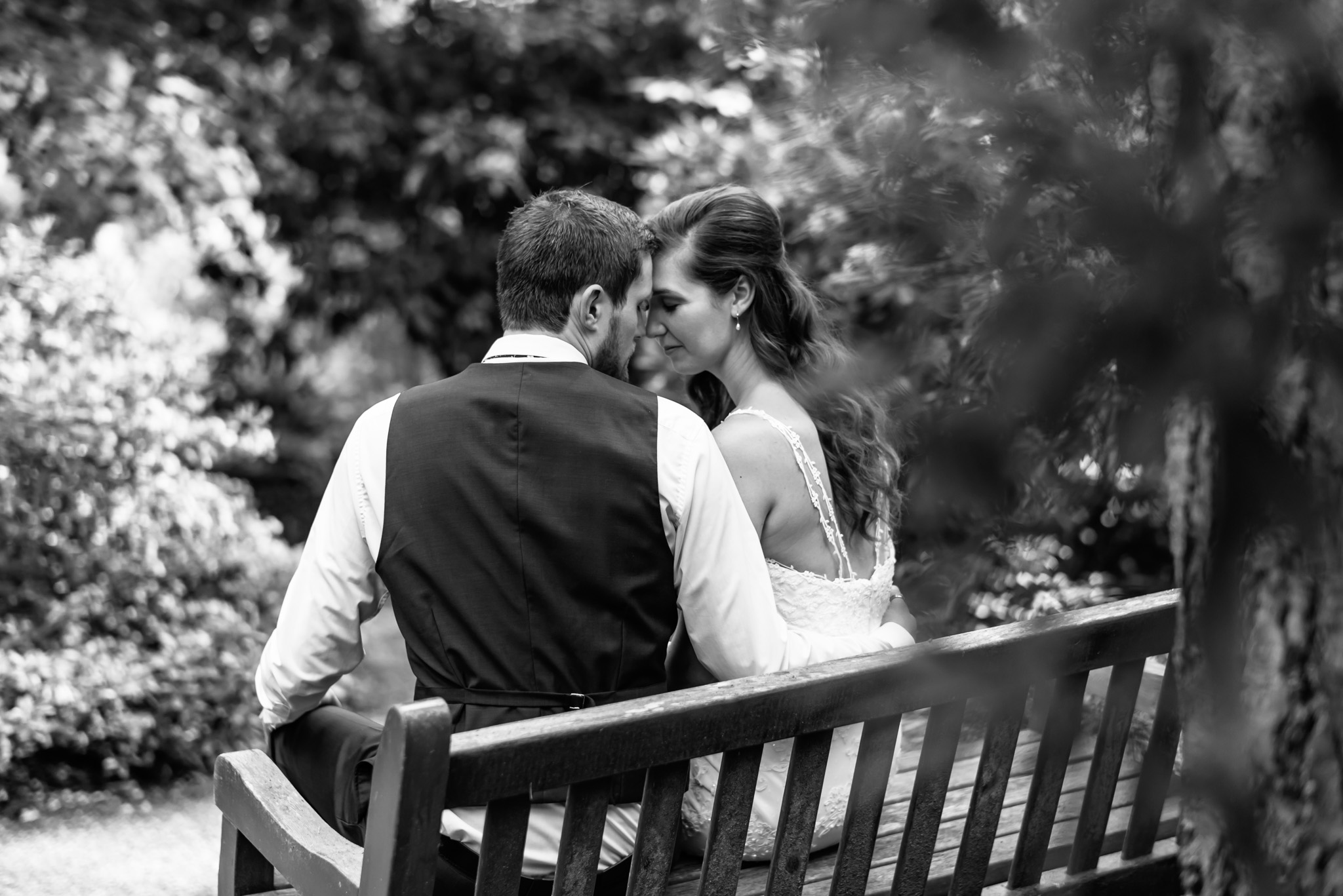 Wedding Photography in Victoria BC Gardens at HCP