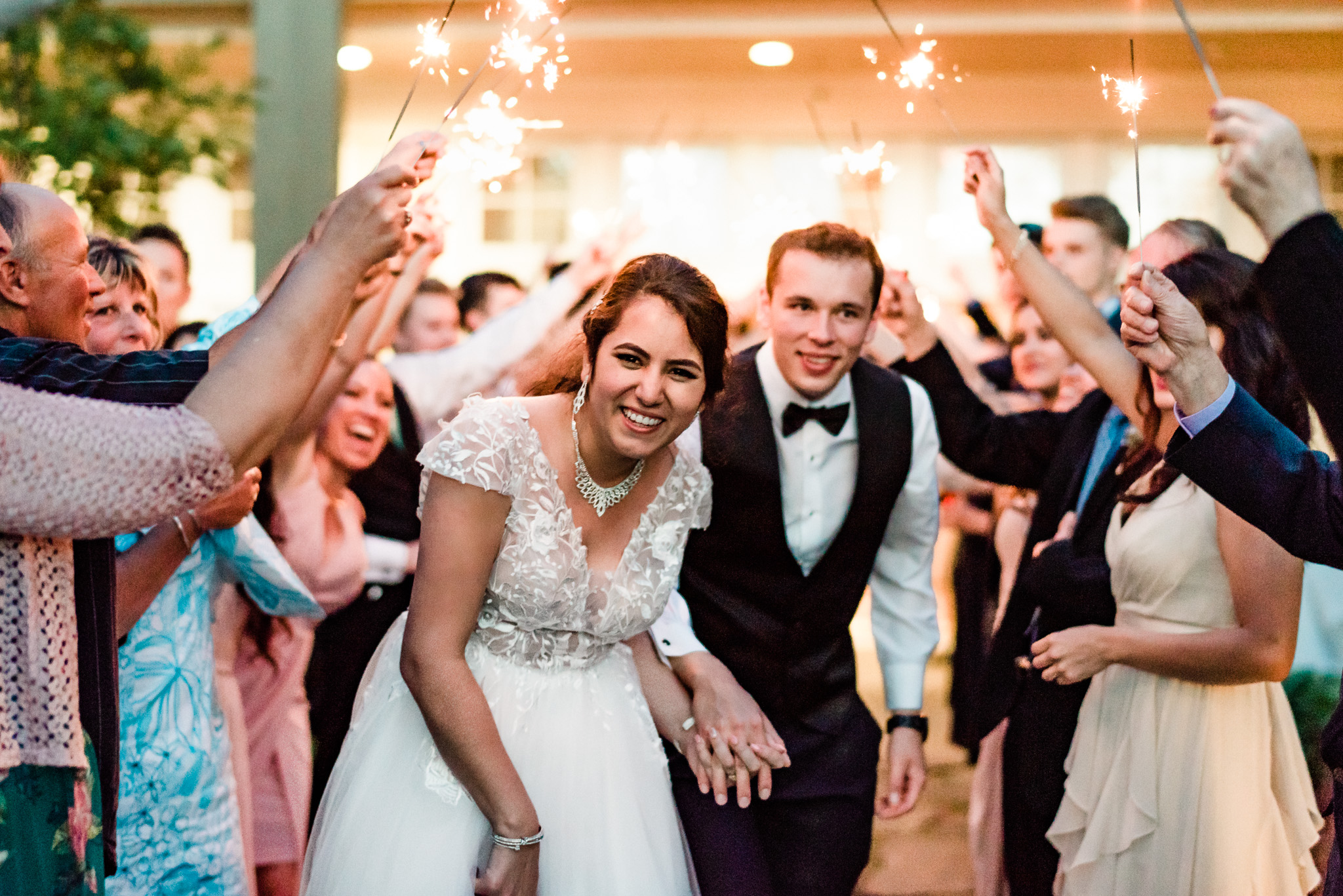 Wedding Photography in Victoria BC Poets Cove Sparkler Exit