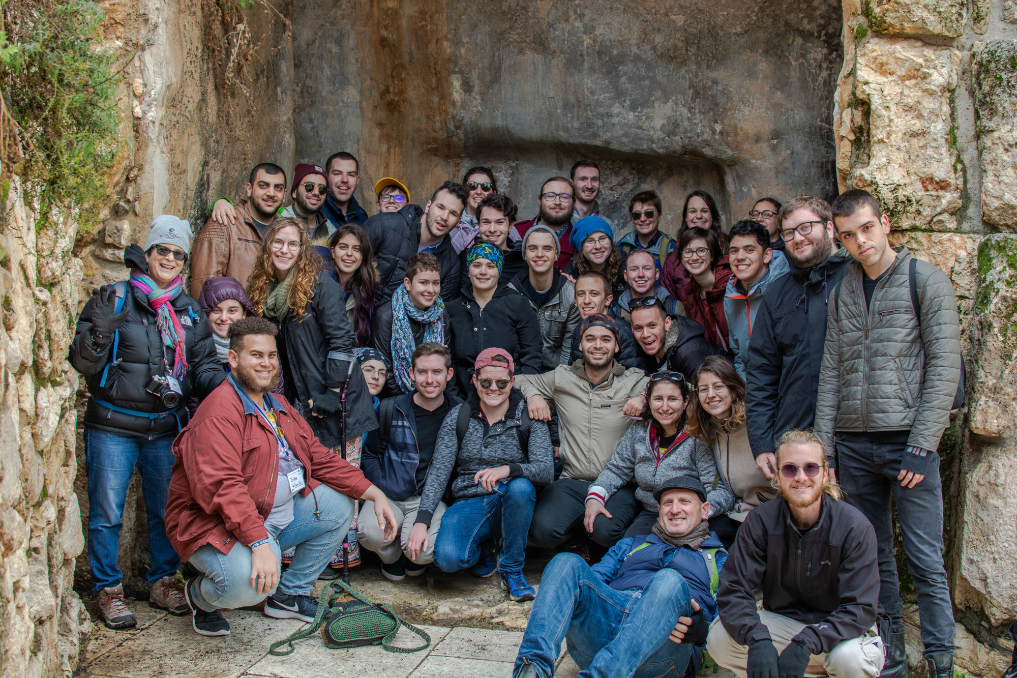 A group picture of all of us. Taken in Jerusalem, but had to throw it here first for context of who I was with. So much love for every single person in this picture!