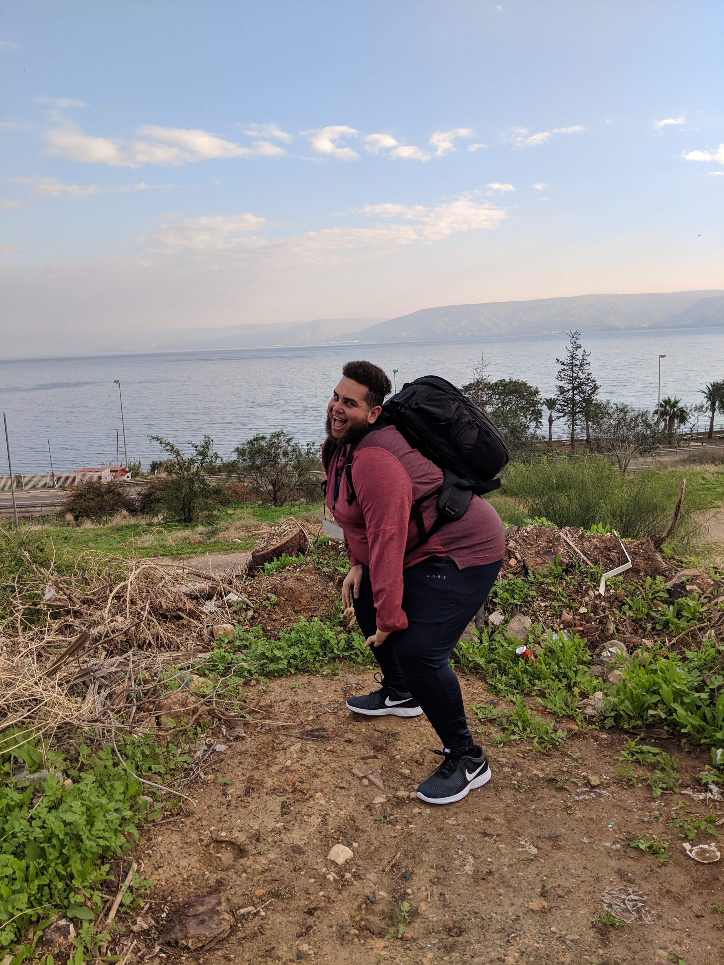Throwing it back to the Sea of Galilee