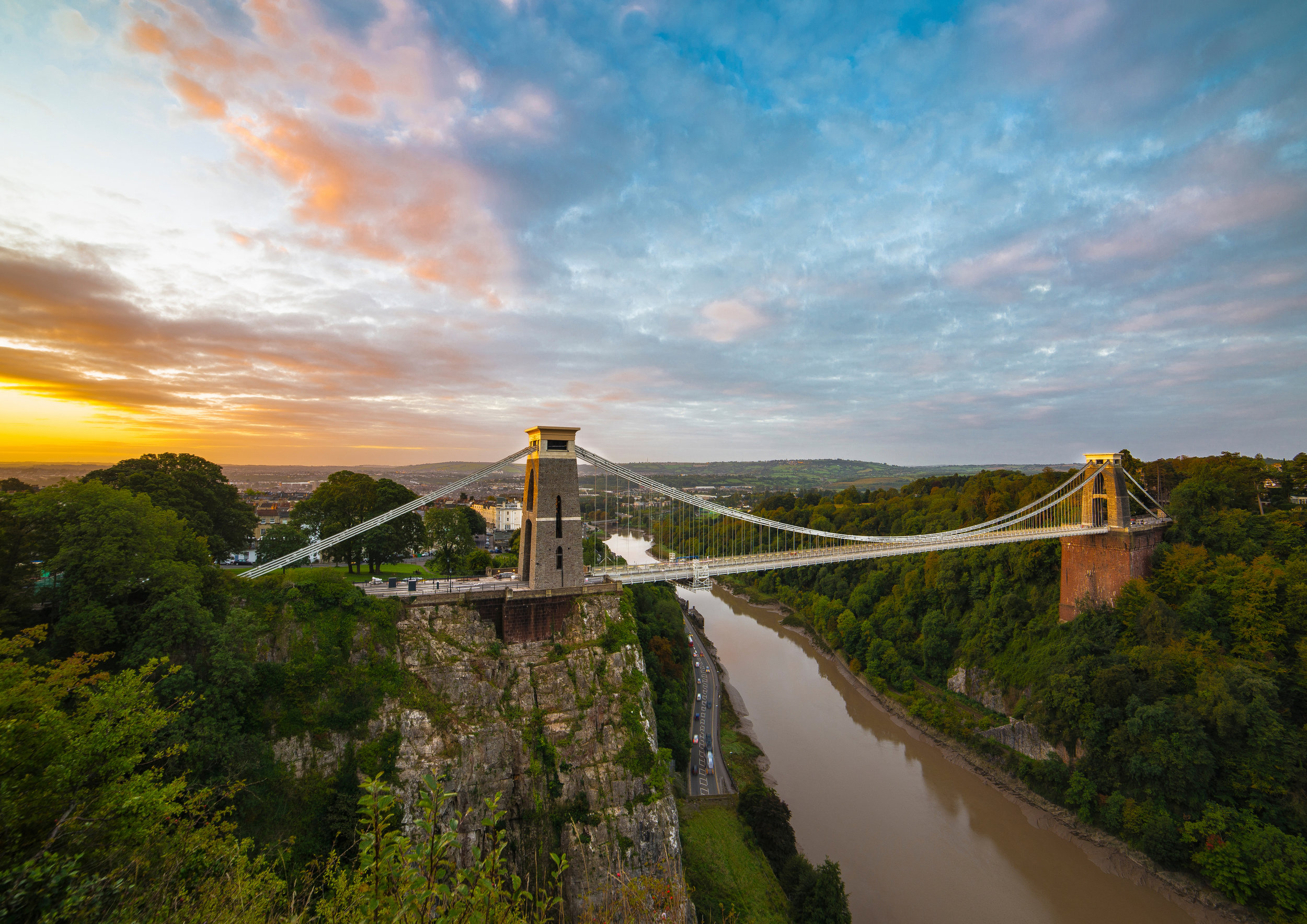 Clifton Bridge sunrise colourful.jpg