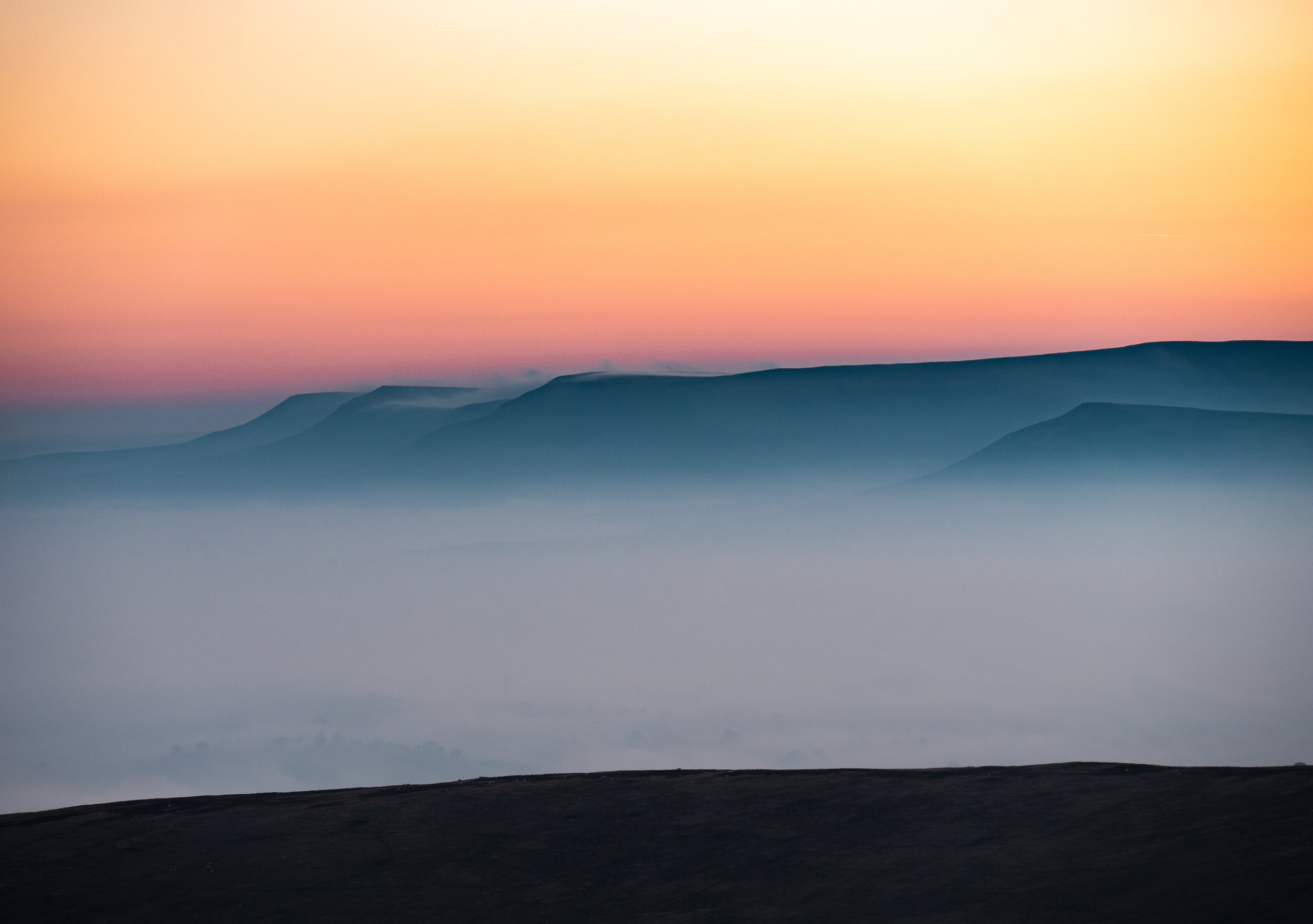 Black Mountains At Dawn
