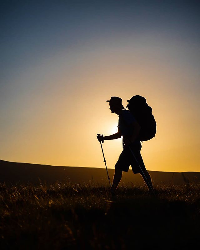 One from a recent wild camp with @grant_hyatt hiking up along the ridge to Cribyn with the low evening sun making for something a little different. There is always a satisfying feeling when your carrying everything you need on your back for a night or two in the hills. Tent, water, food, coffee, a few beers and some pretty special views. --------------------------------------------------- @lumixuk G9+35-100mm 2.8