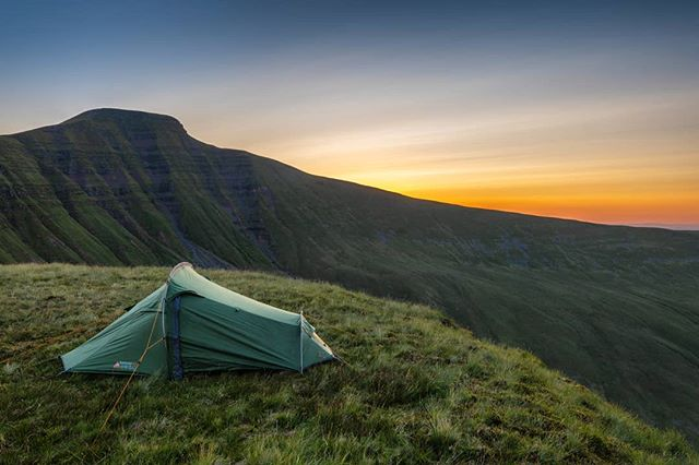 Tent up, food hydrating and cracking a cold one whilst watching the last of the evening colour fade behind Pen y Fan. I say a cold one, It was more like luke warm by this point. --------------------------------------------- @lumixuk S1+24-105mm