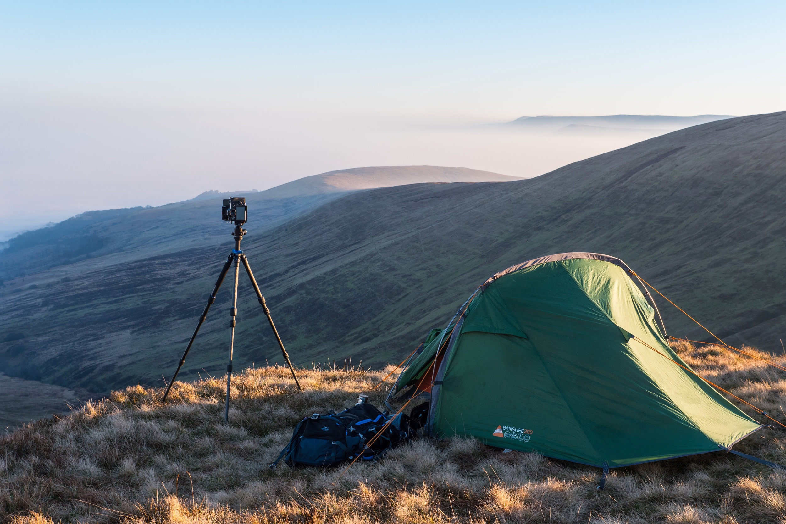 Wild camps in the Brecon Beacons with the Benro TMA28C