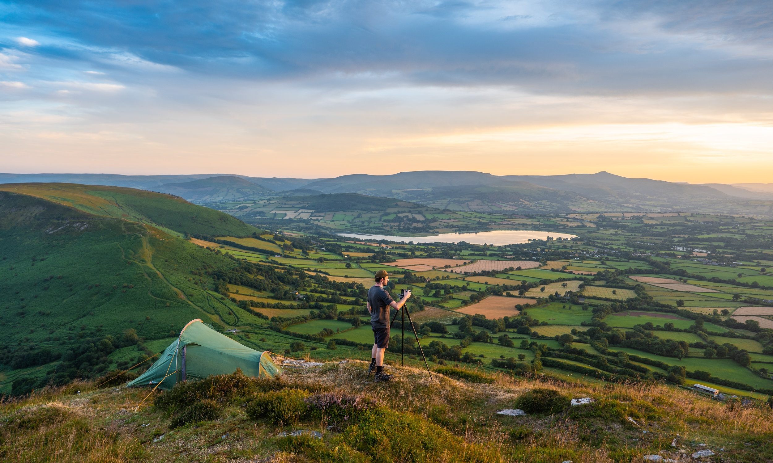 Capturing the evening light at one of my favourite views of the Brecon Beacons, Wales.