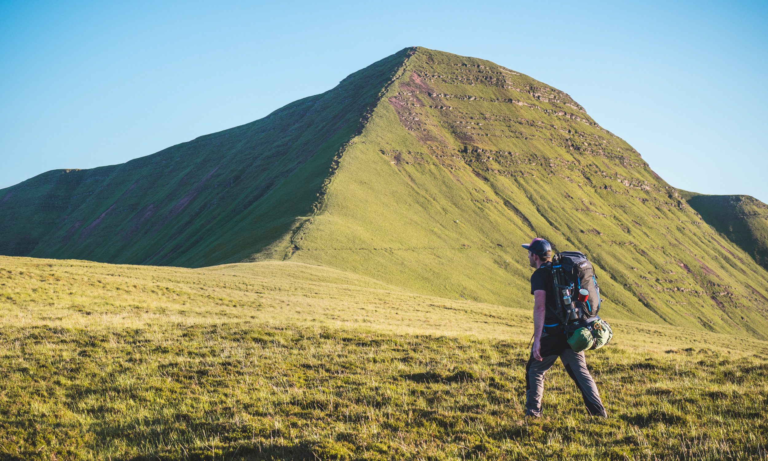 Hiking up to the top of Cribyn