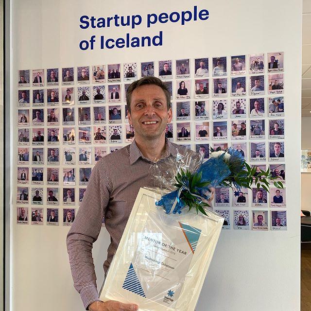 Mentor ársins í Startup Reykjavík 2018 var tilkynntur í gær! Innilega til hamingju Magnús Ingi🙌 —  Yesterday we announced mentor of the year 2018! Congratulations Magnús Ingi🙌