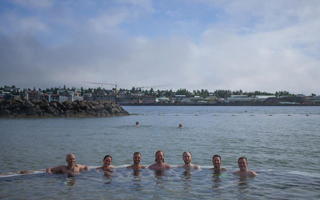 The Startup Reykjavik teams went swimming in the ocean yesterday🏊🏼♀️ 10/10 would recommend after a long day at the office🚀