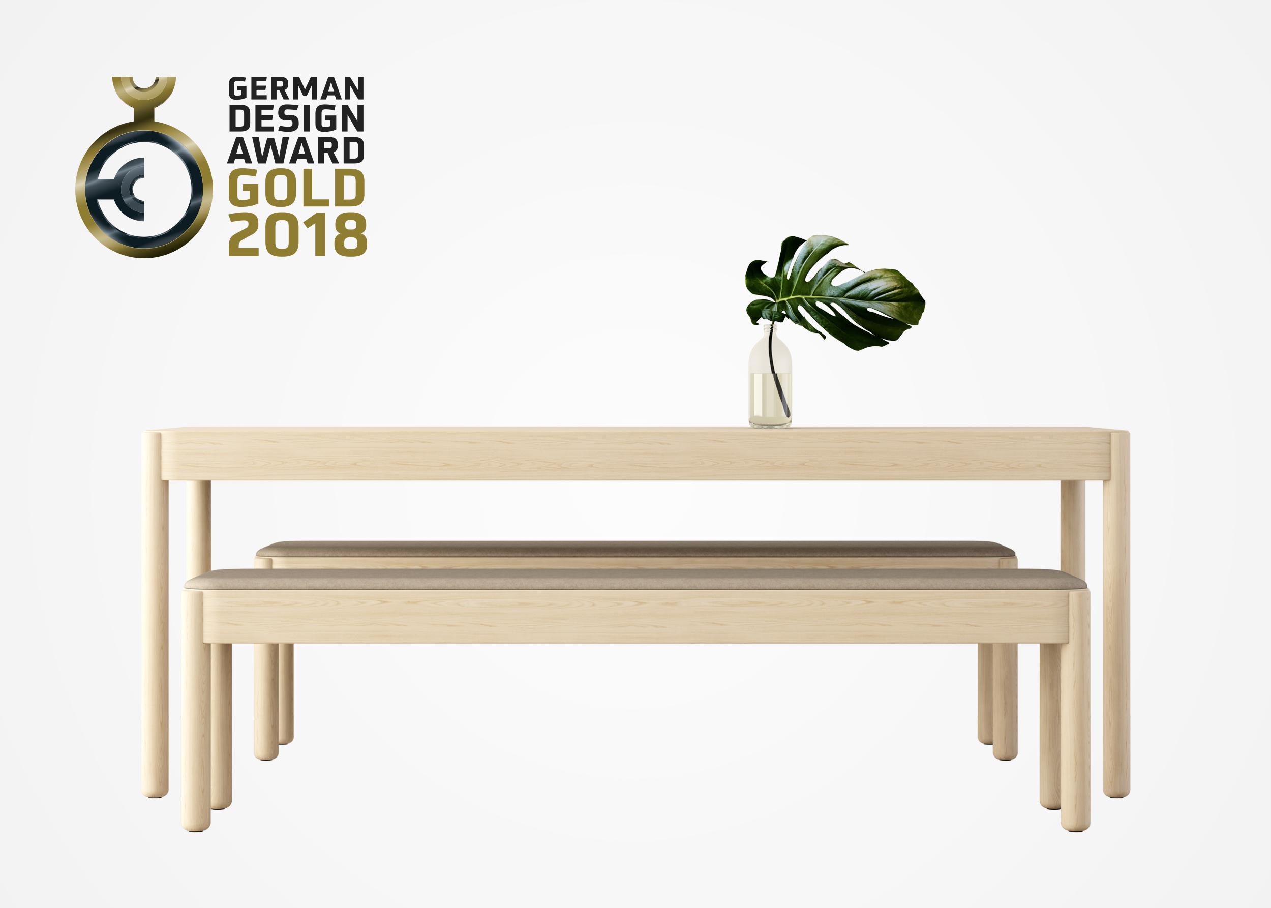 Wakufuru by Glimakra of Sweden, design Johan Kauppi. Gold winner, German Design Award 2018.