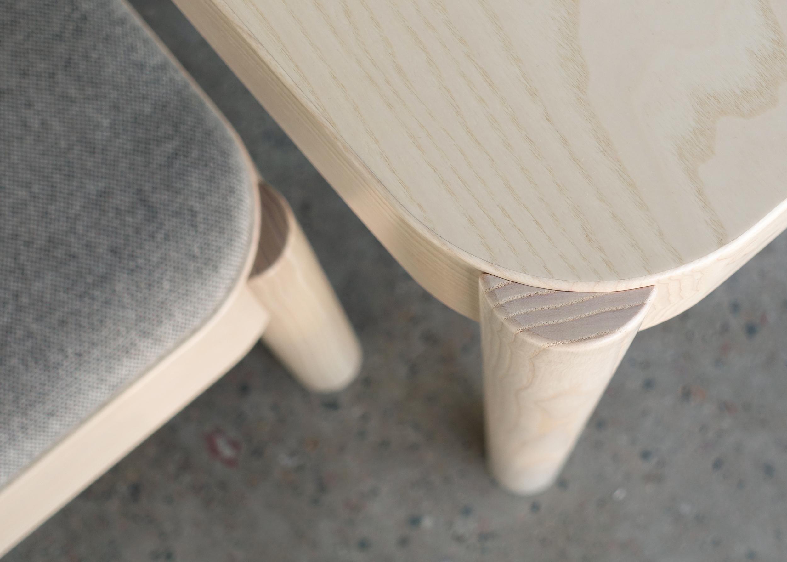 Wakufuru table and becnh, designed by Johan Kauppi for Glimakra of Sweden