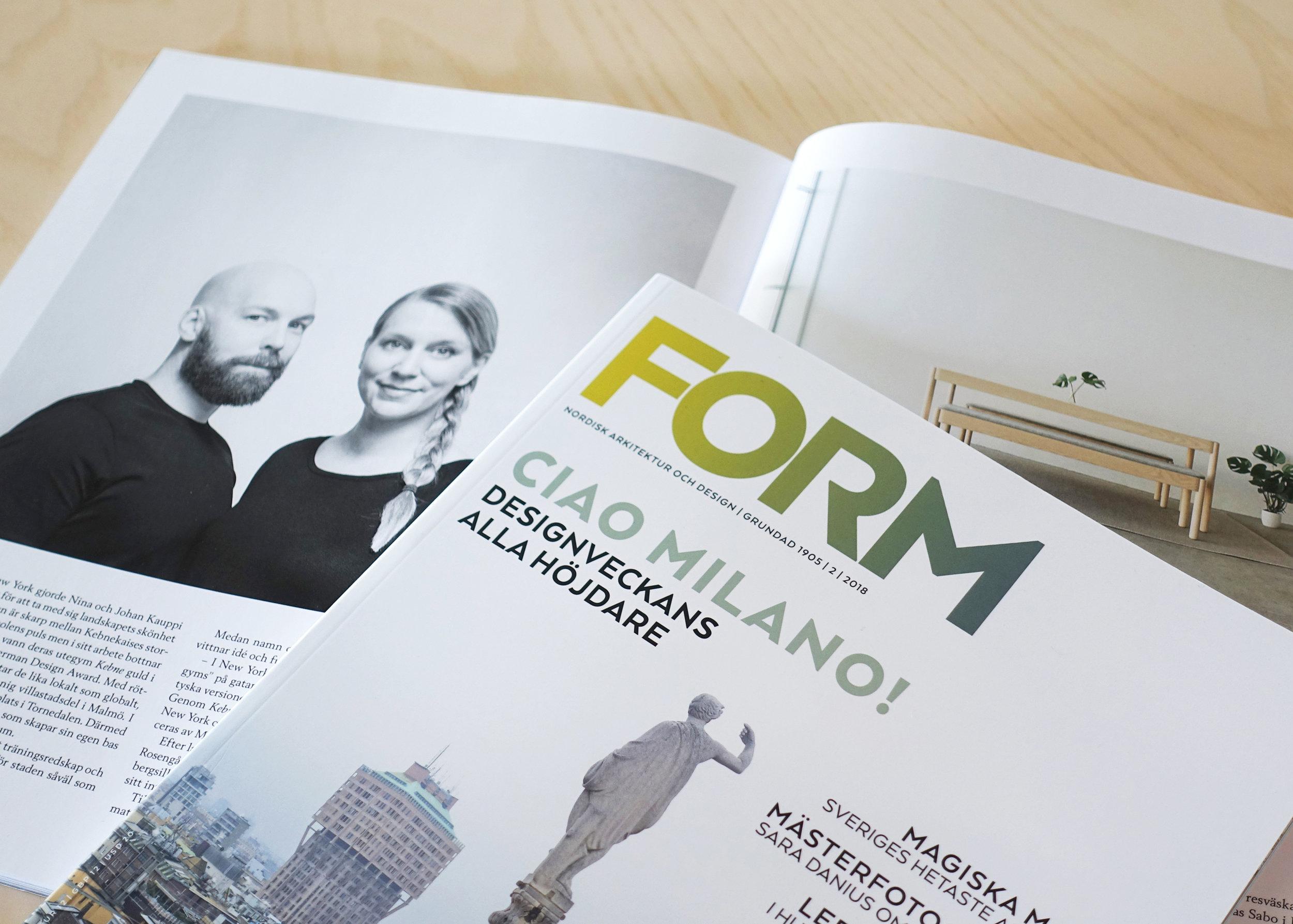 Form Magazine_No2, 2018_Kauppi & Kauppi_Johan Kauppi, Nina Kaupi