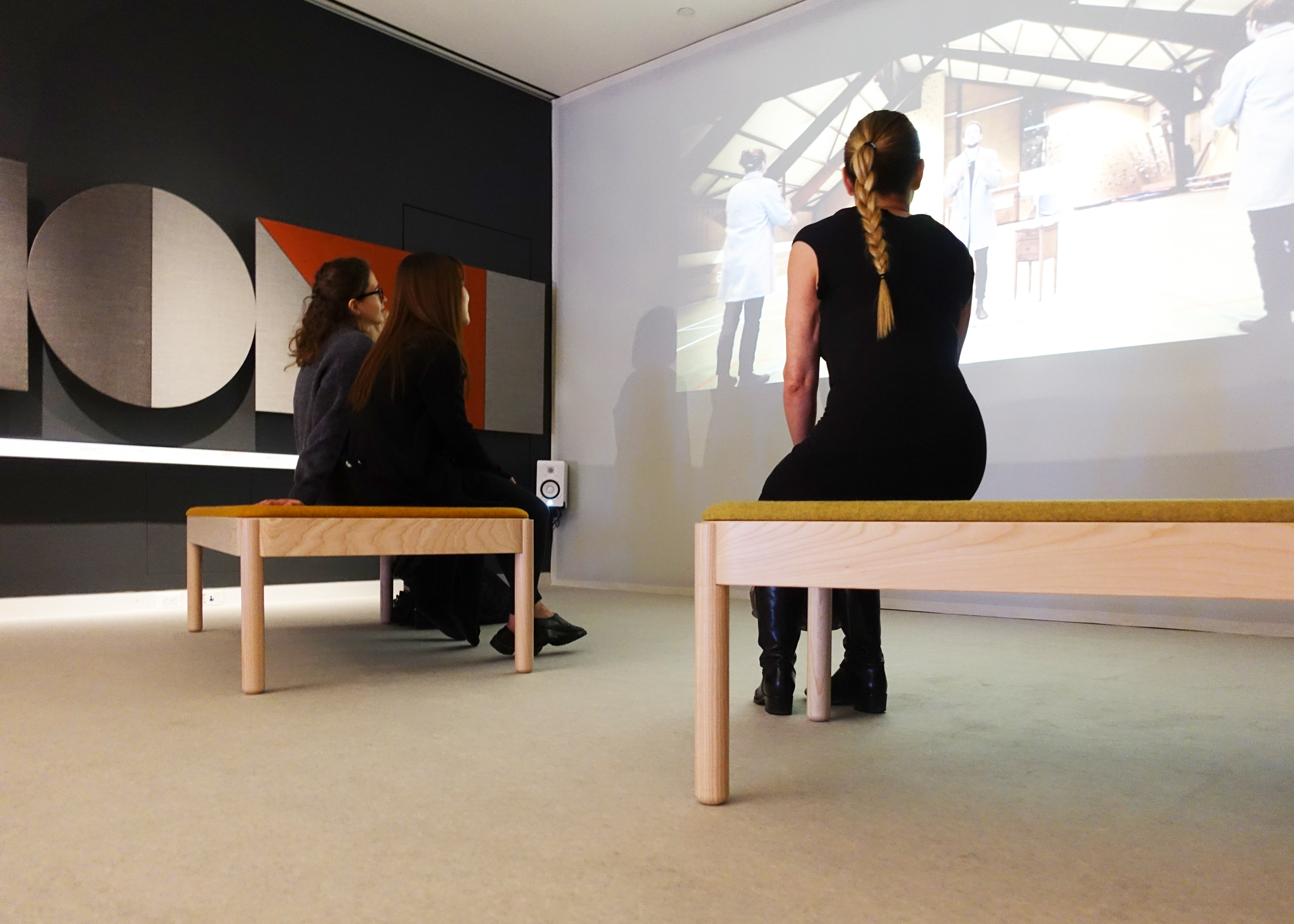 Wakufuru benches by Johan Kauppi at The Senses, Design Beyond Vision at Cooper Hewitt