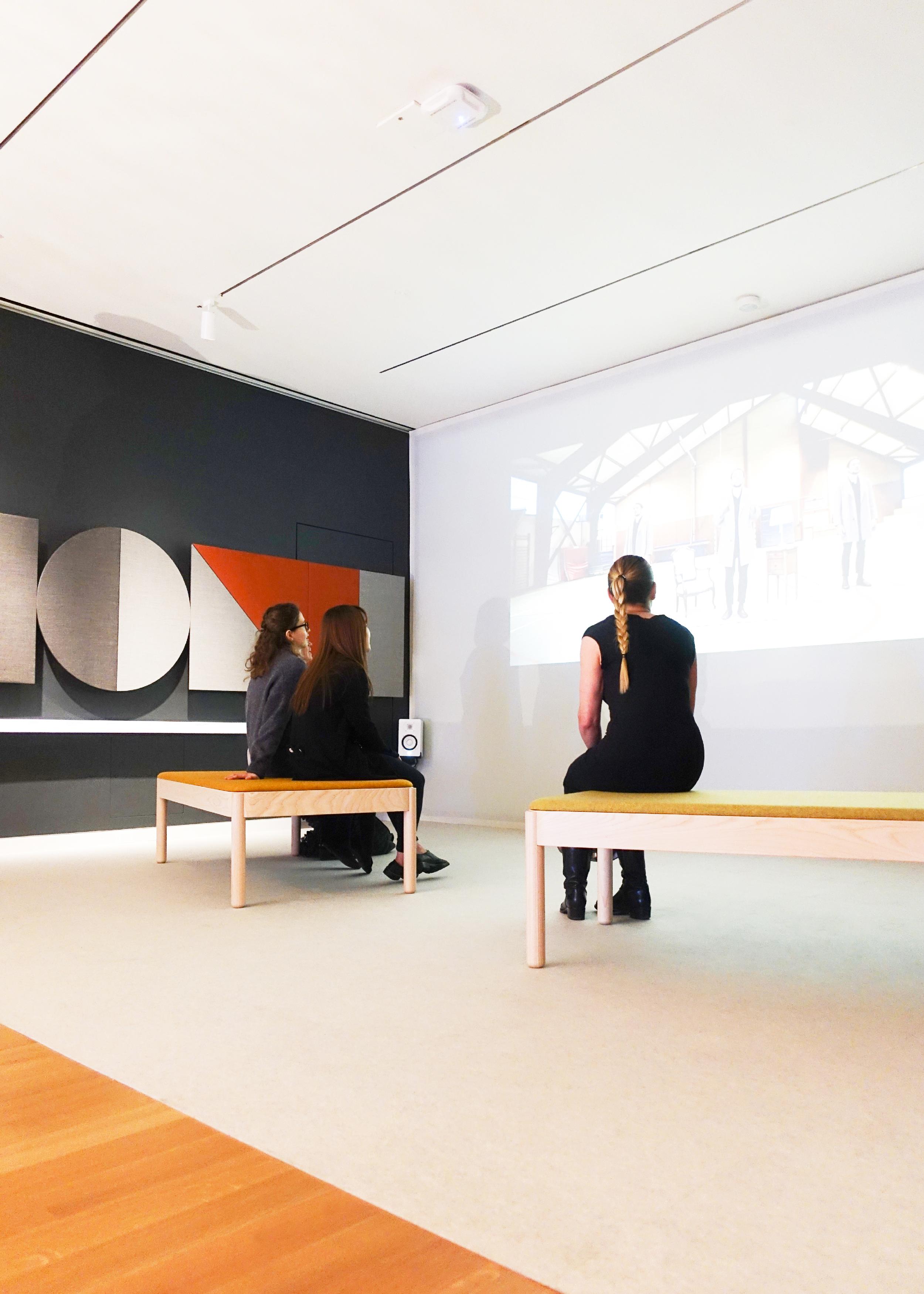 "Wakufuru seating islands in ""The Senses"" exhibition by Cooper Hewitt Design Museum, New York."