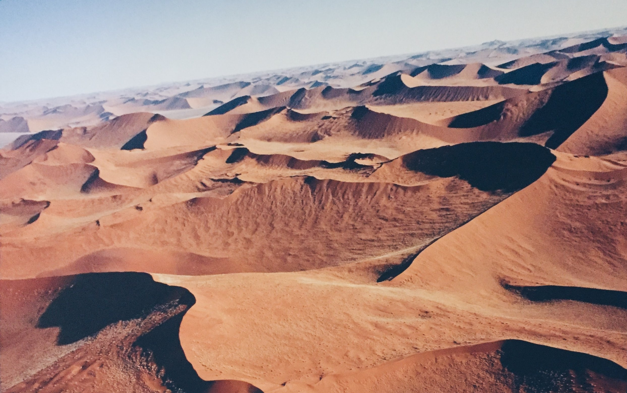 Photo on the Wall of Namibian Landscape