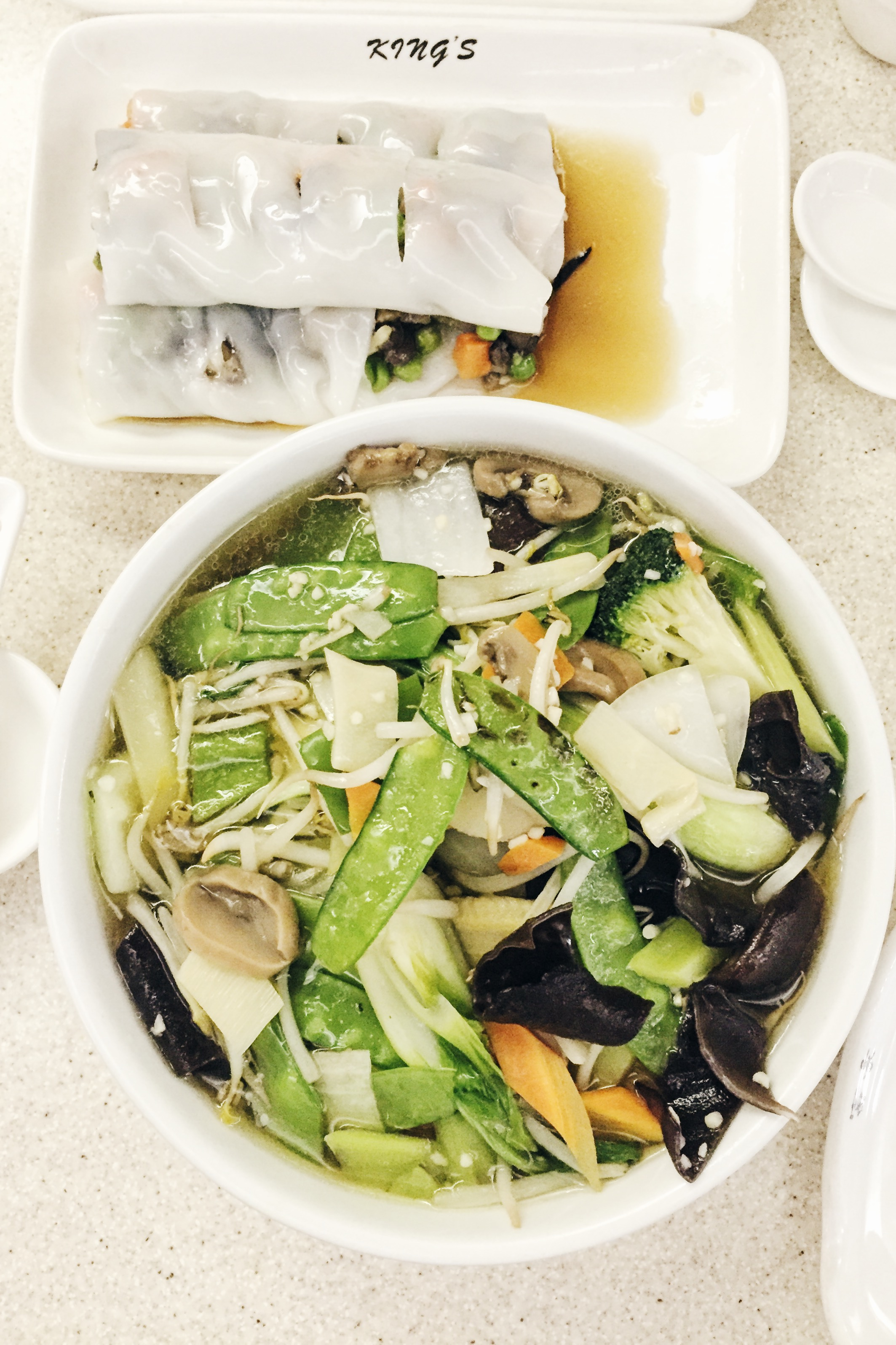 Mixed Vegetables in Noodle Soup