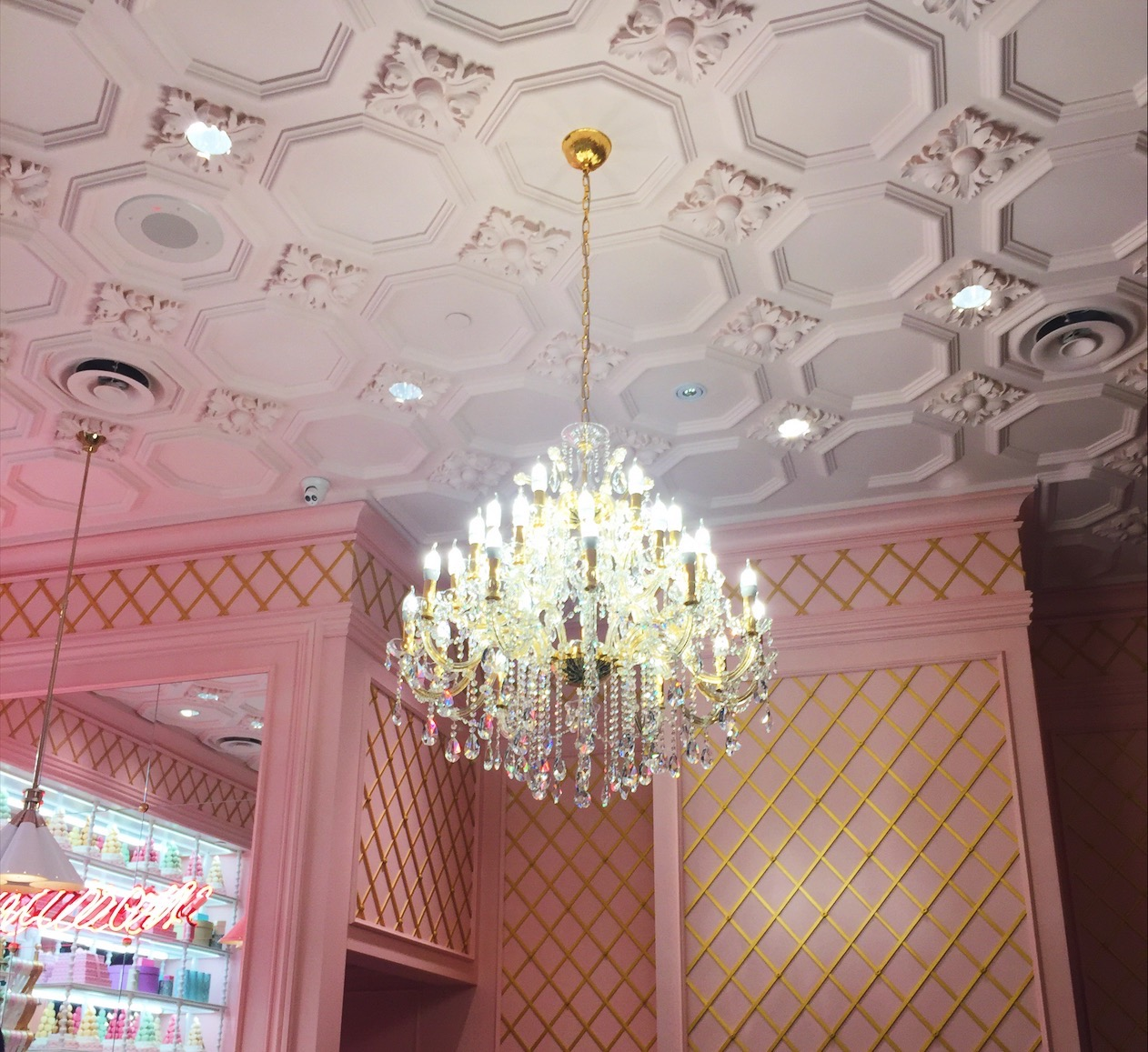 Chandelier in Ladurée Boutique and Tea Salon at Yorkdale Shopping Centre