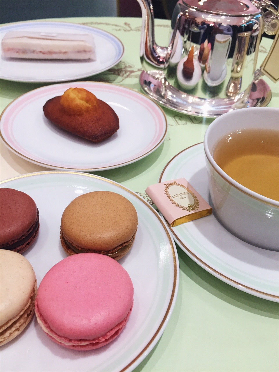 Madeleine and Macaroons at Ladurée