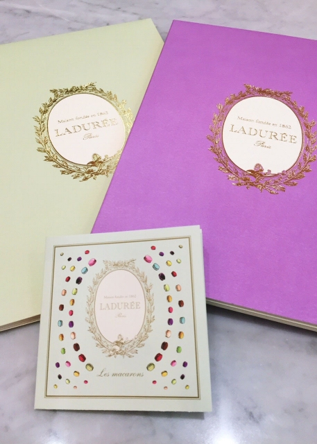 Food, Drink and Macaroon Menu at Ladurée Tea Salon in Toronto